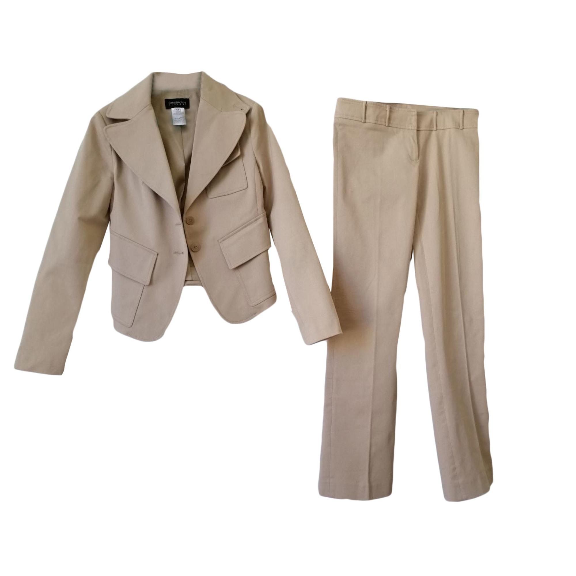 Tailleur pantalon PATRIZIA PEPE Beige, camel