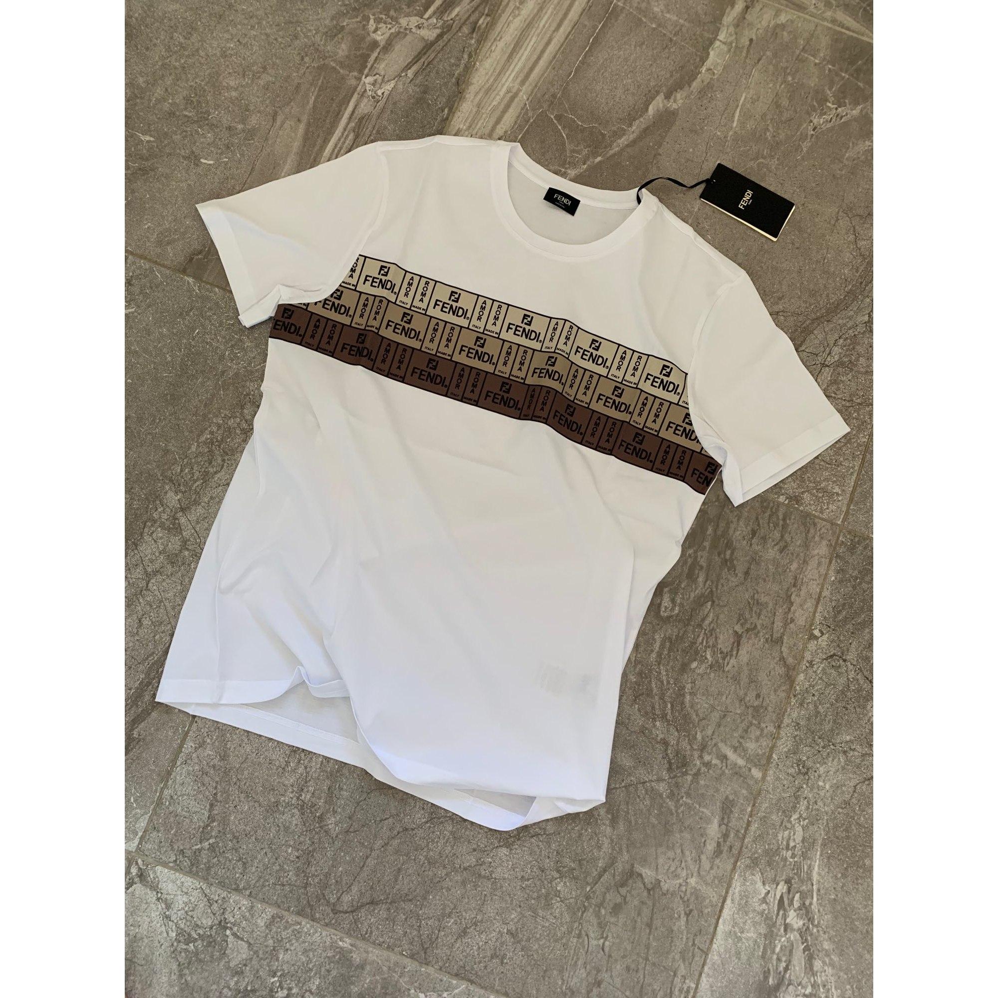 Tee-shirt FENDI Blanc, blanc cassé, écru