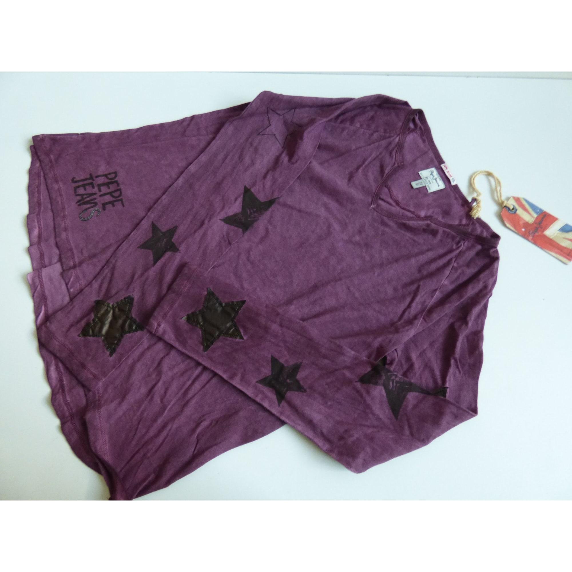 Tee-shirt PEPE JEANS Violet, mauve, lavande