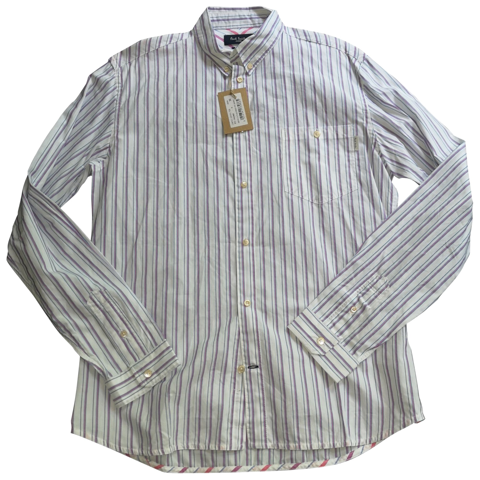 Chemise PAUL SMITH blanche à rayures