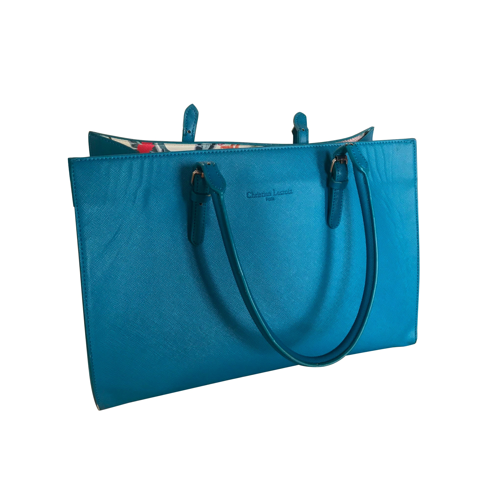 Sac à main en tissu CHRISTIAN LACROIX Bleu, bleu marine, bleu turquoise