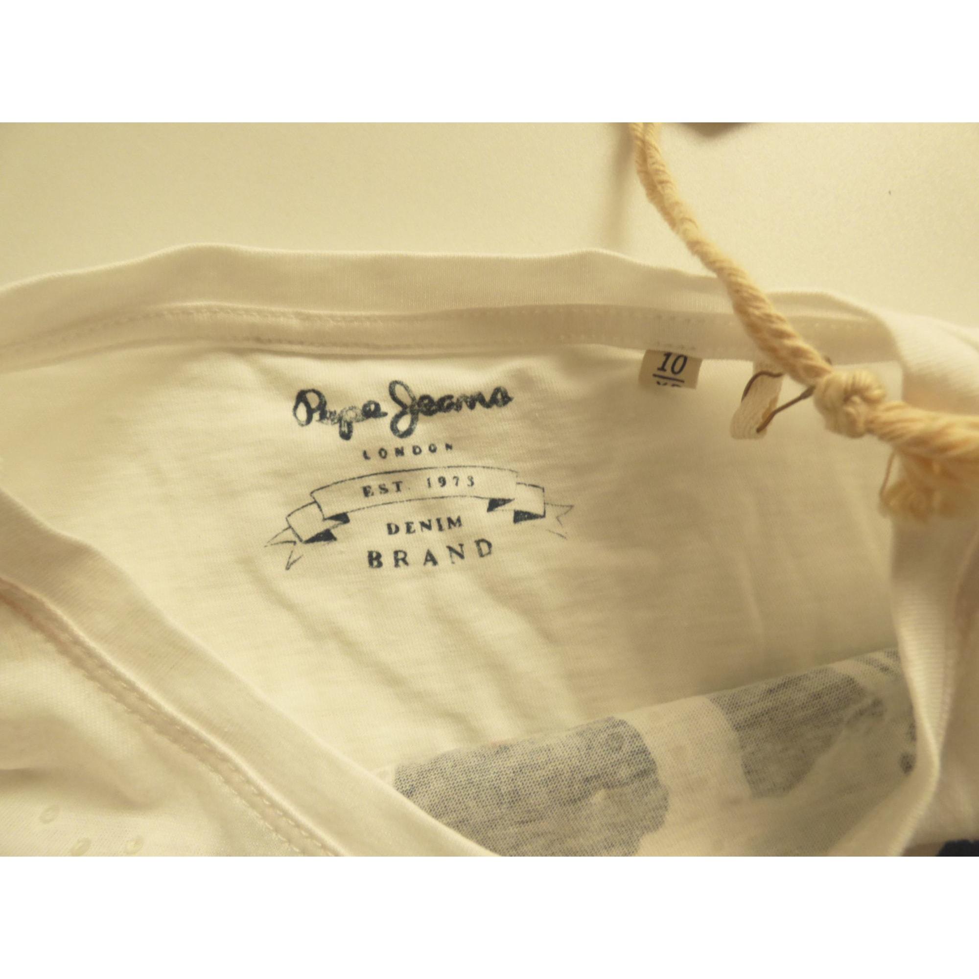 Tee-shirt PEPE JEANS Blanc, blanc cassé, écru