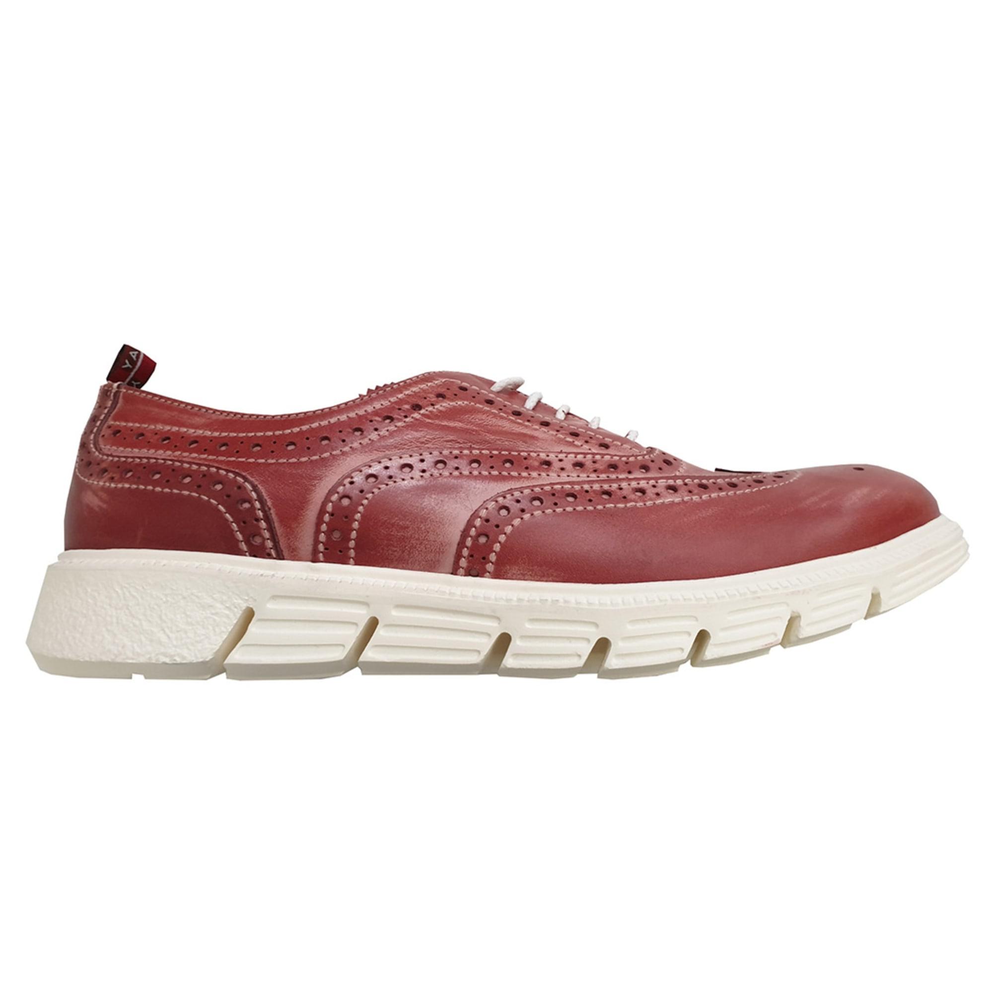 Chaussures à lacets NO NAME Rouge, bordeaux