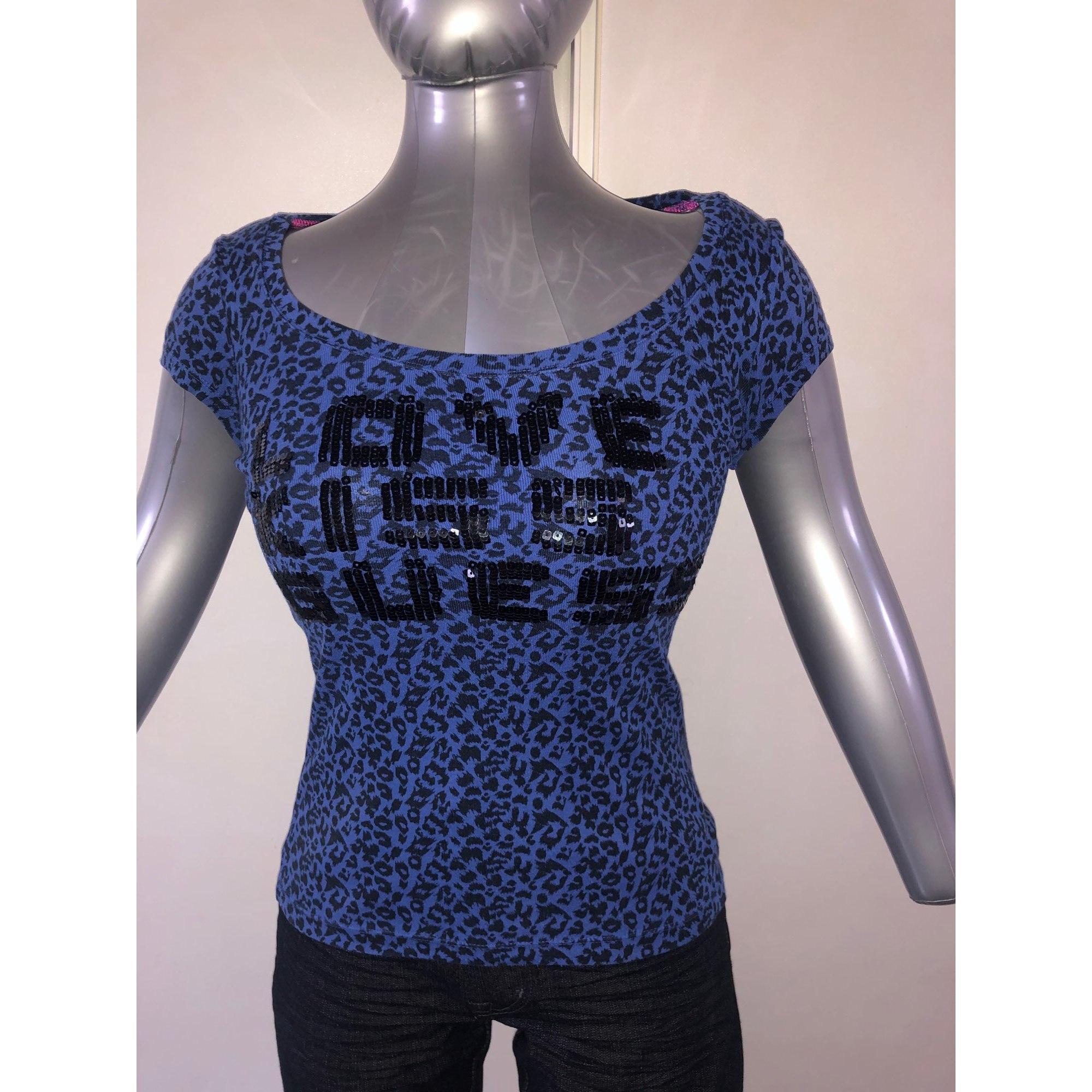 Top, tee-shirt GUESS Bleu, bleu marine, bleu turquoise