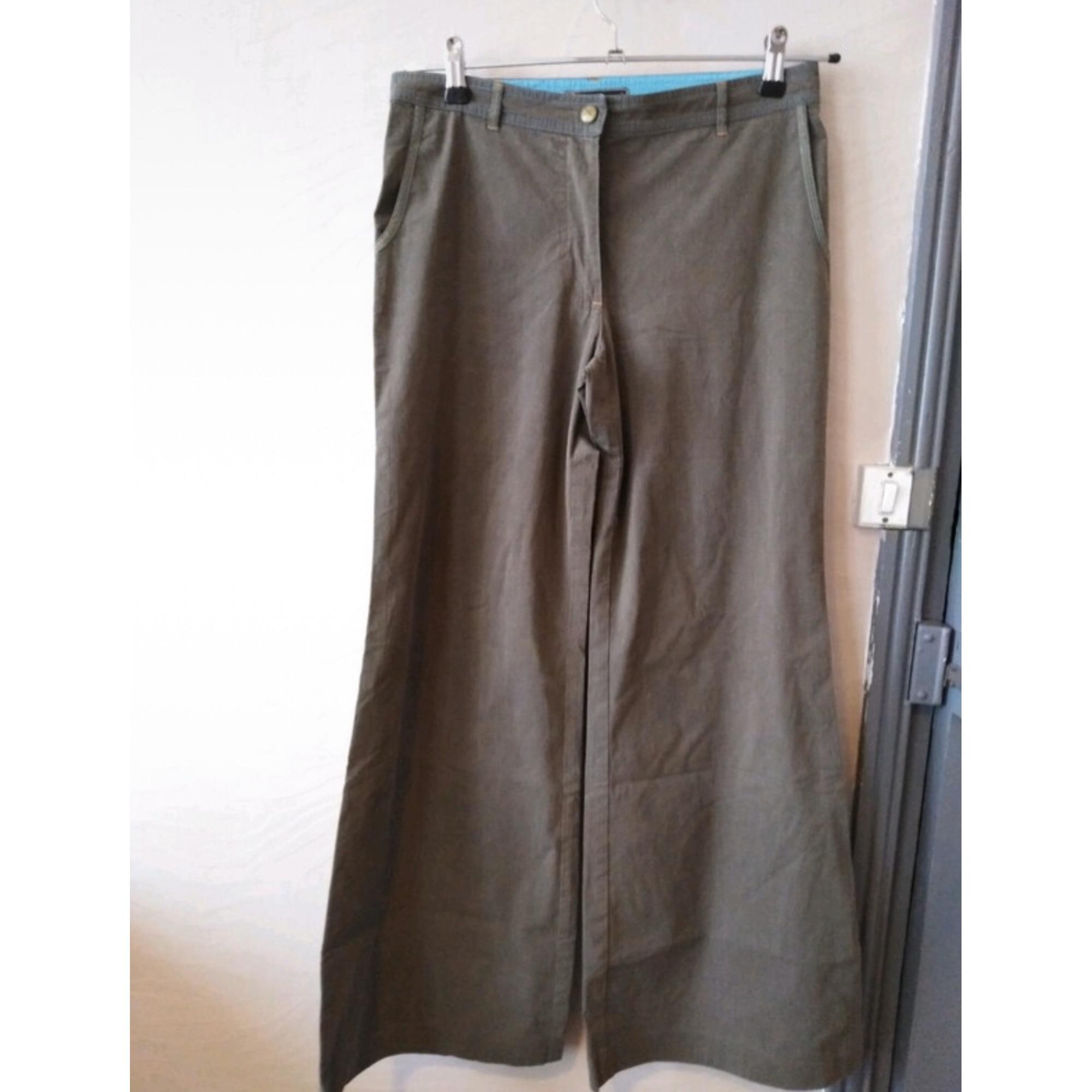 Pantalon évasé COP-COPINE Kaki