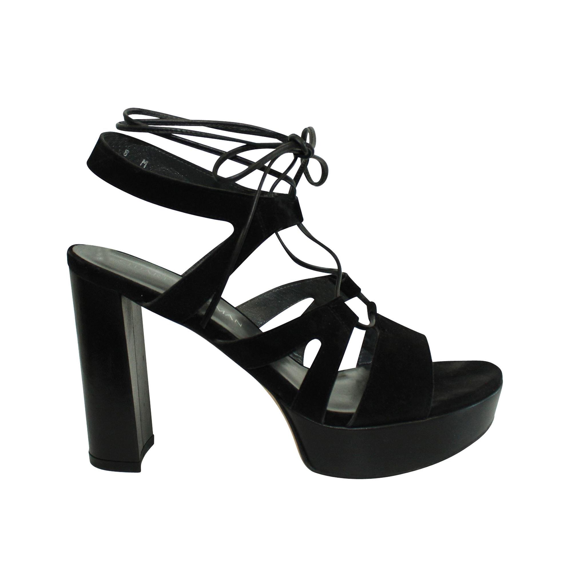 Sandales plates  STUART WEITZMAN Noir