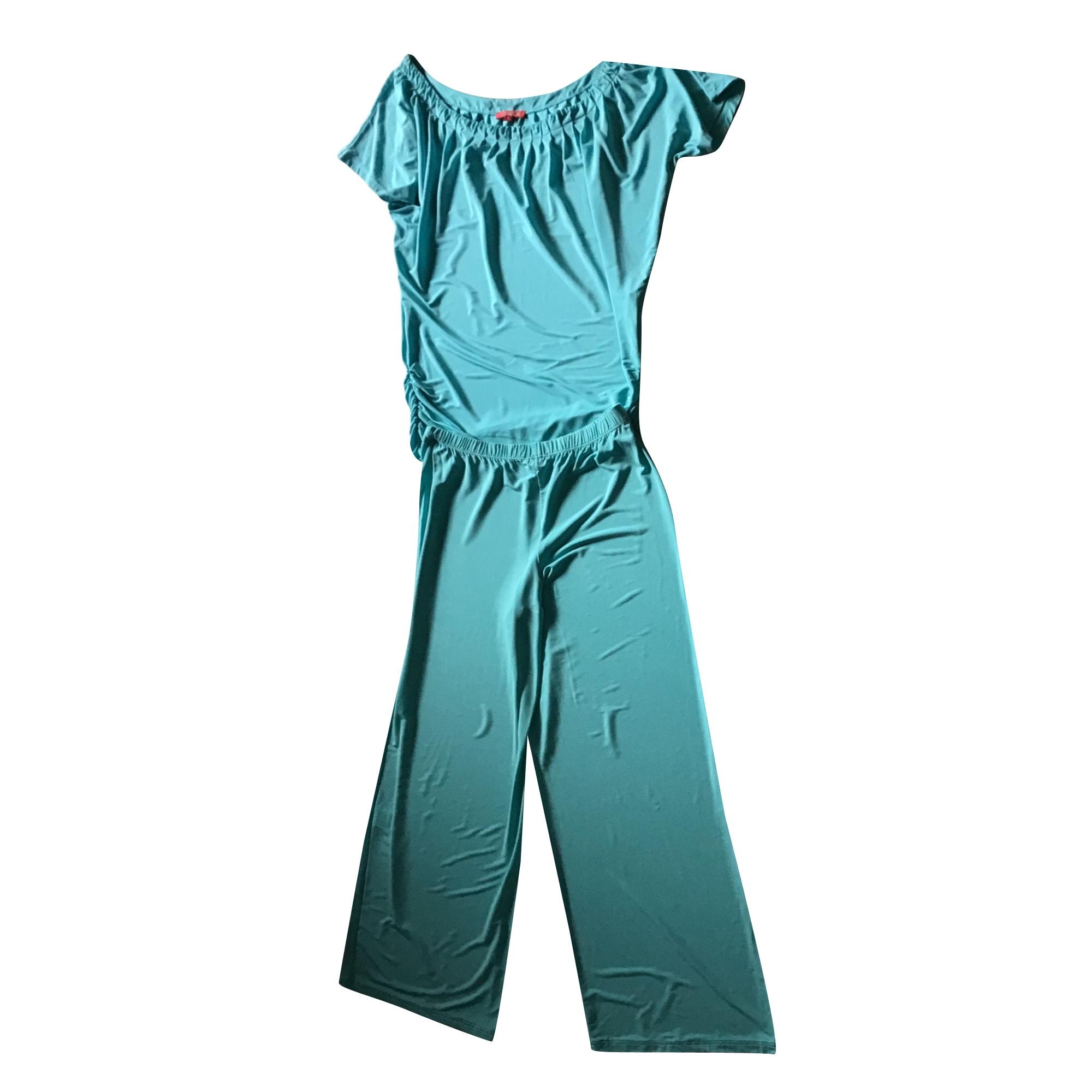 Tailleur pantalon CHACOK Bleu, bleu marine, bleu turquoise