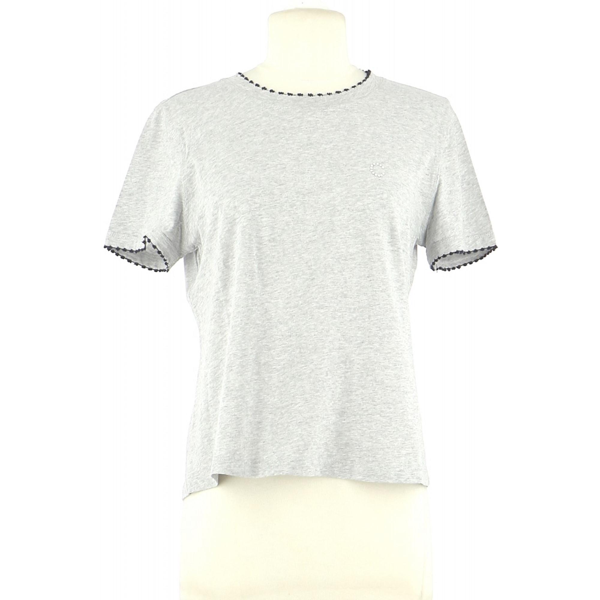 Top, tee-shirt CLAUDIE PIERLOT Gris, anthracite