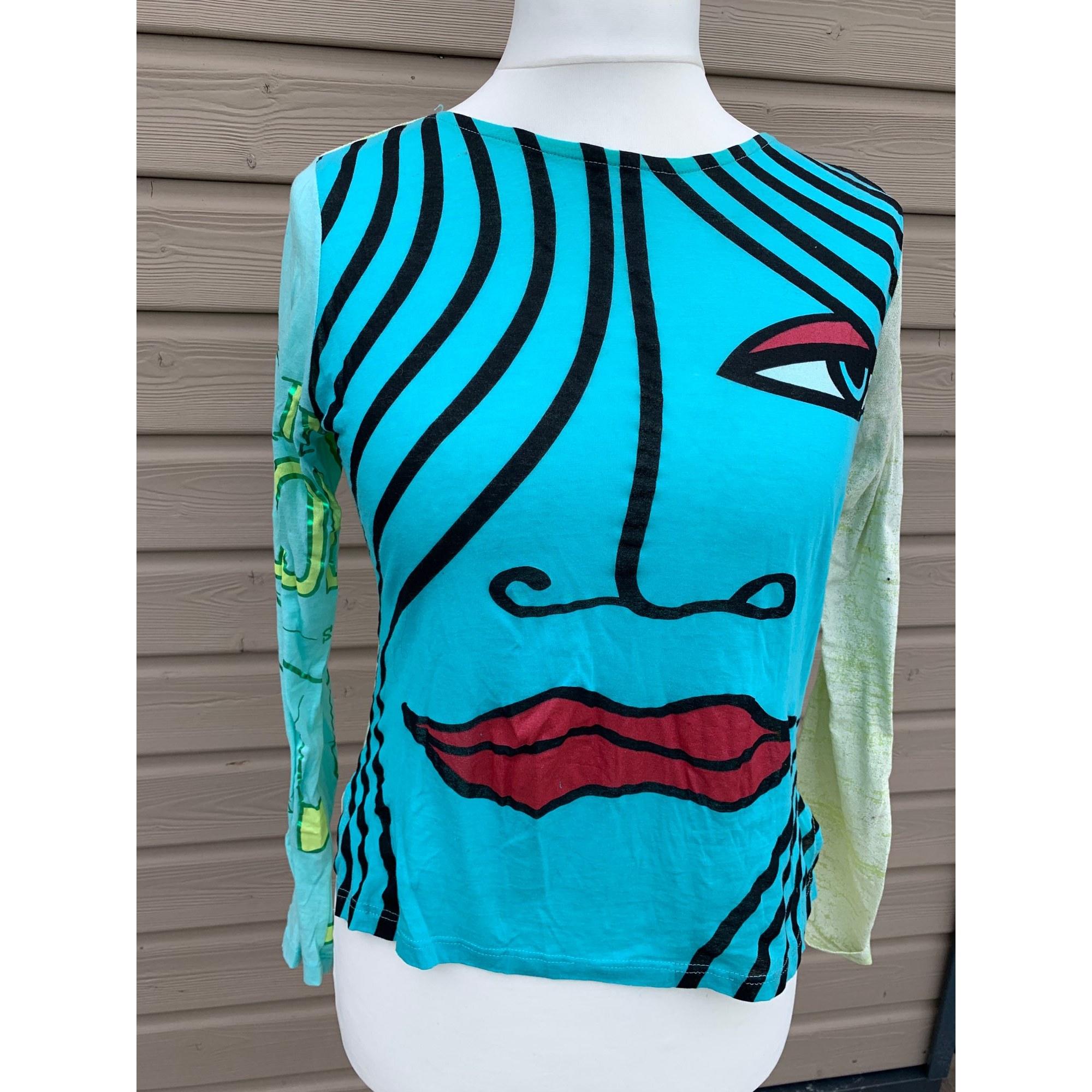 Top, tee-shirt CUSTO BARCELONA Bleu, bleu marine, bleu turquoise
