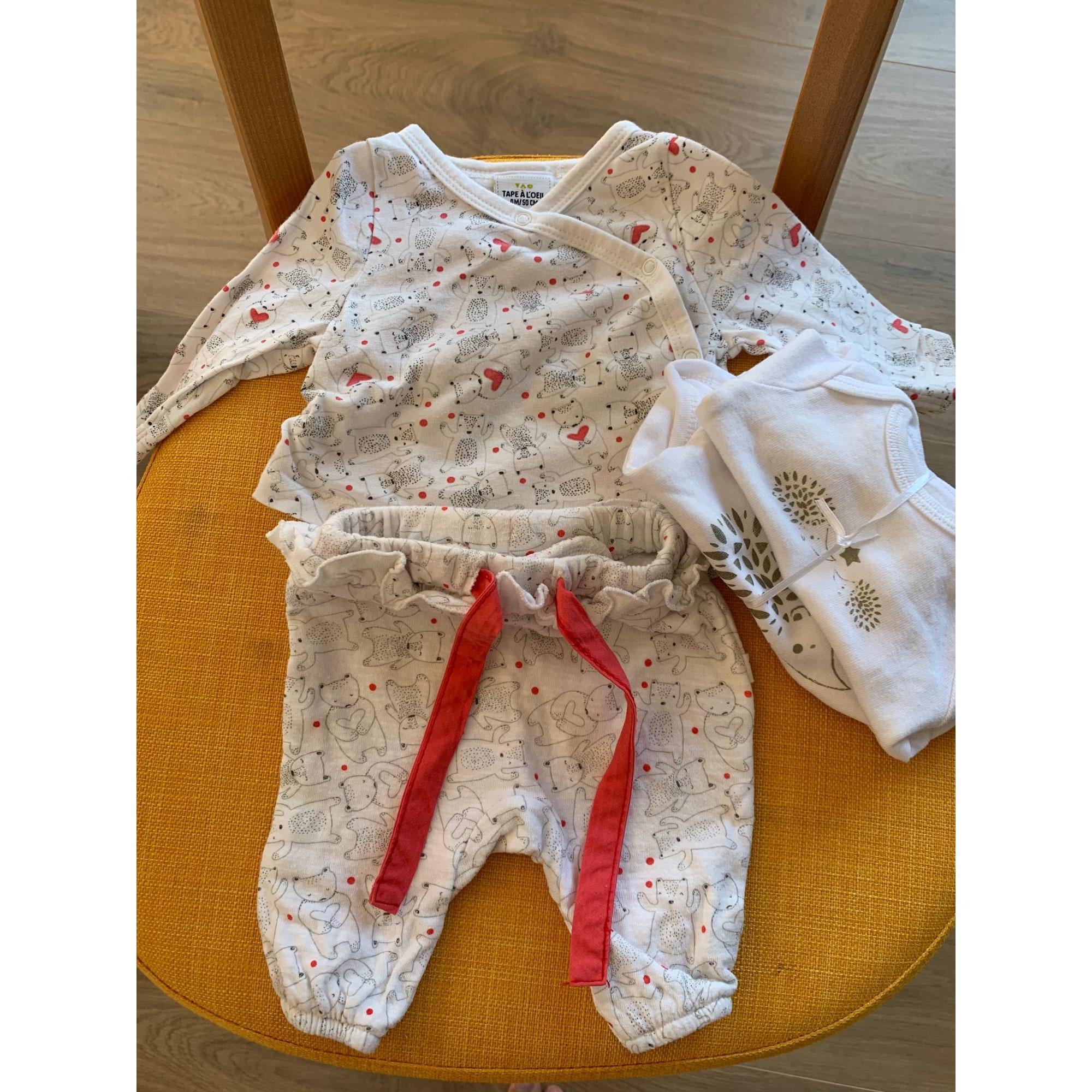 Ensemble & Combinaison pantalon TAPE À L'OEIL Blanc, blanc cassé, écru