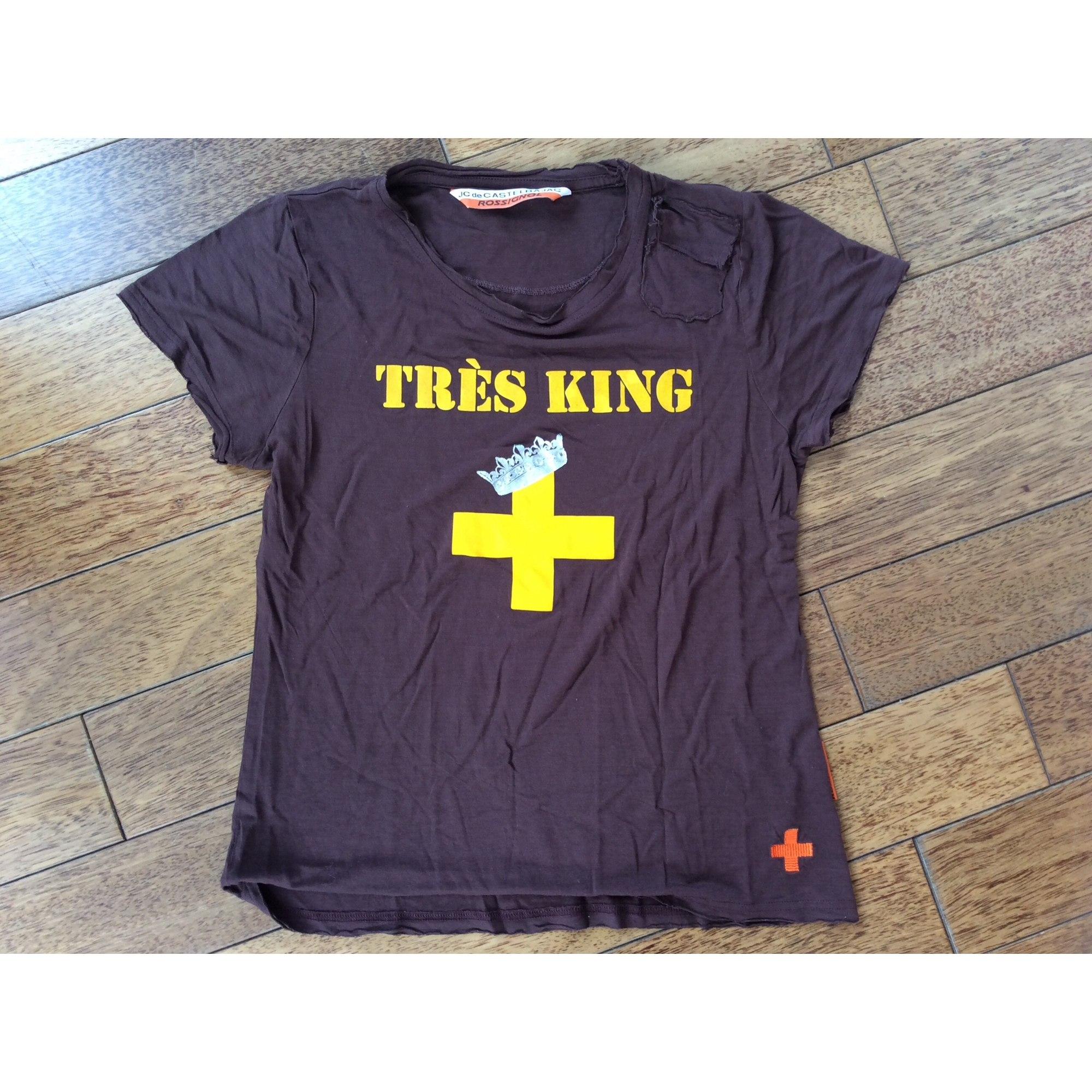 Top, tee-shirt JC DE CASTELBAJAC Marron