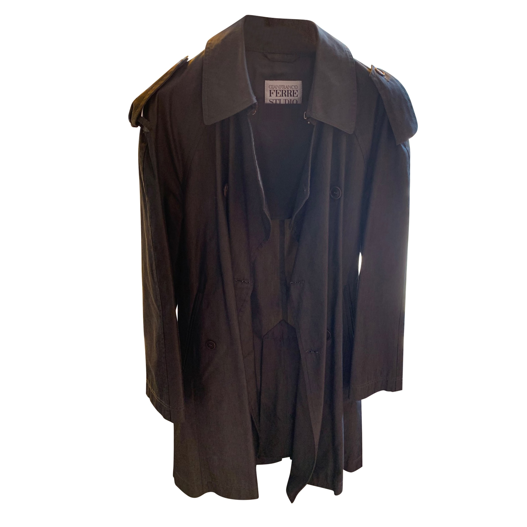 Imperméable, trench GIANFRANCO FERRE Gris, anthracite
