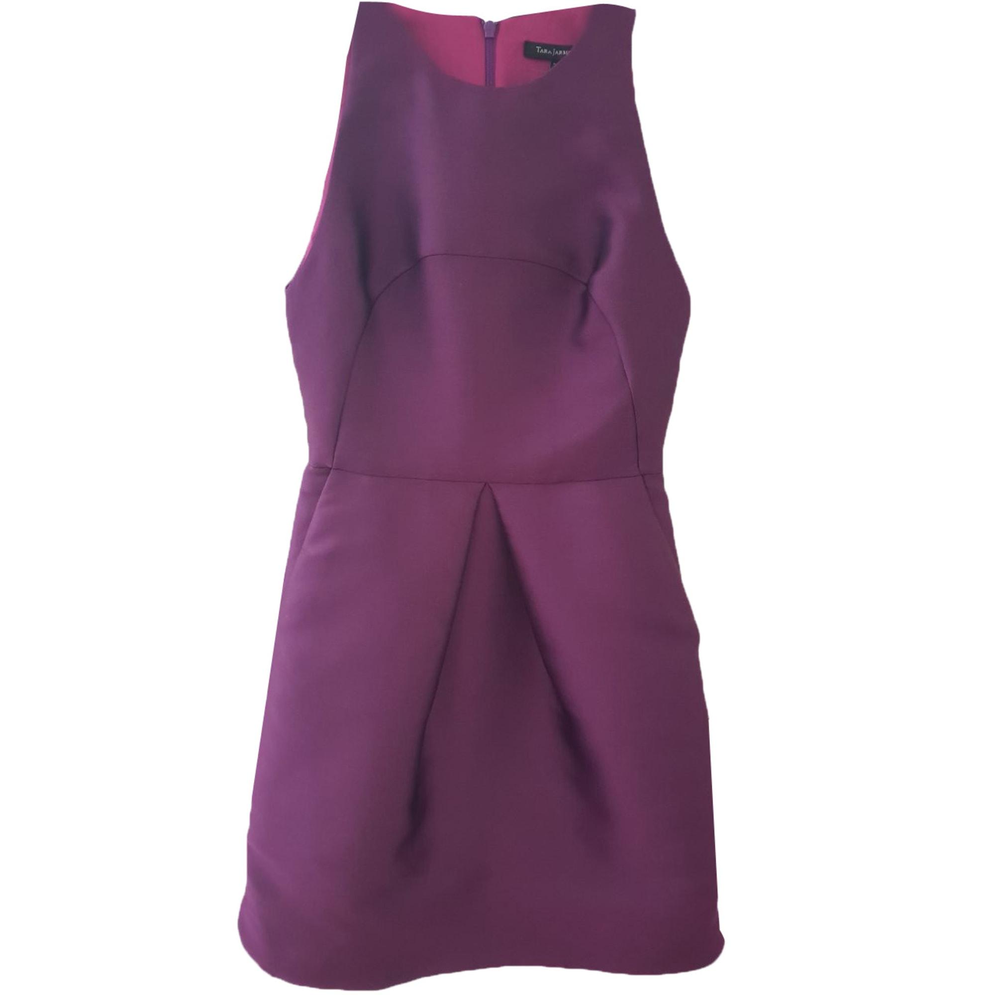 Robe mi-longue TARA JARMON Violet, mauve, lavande