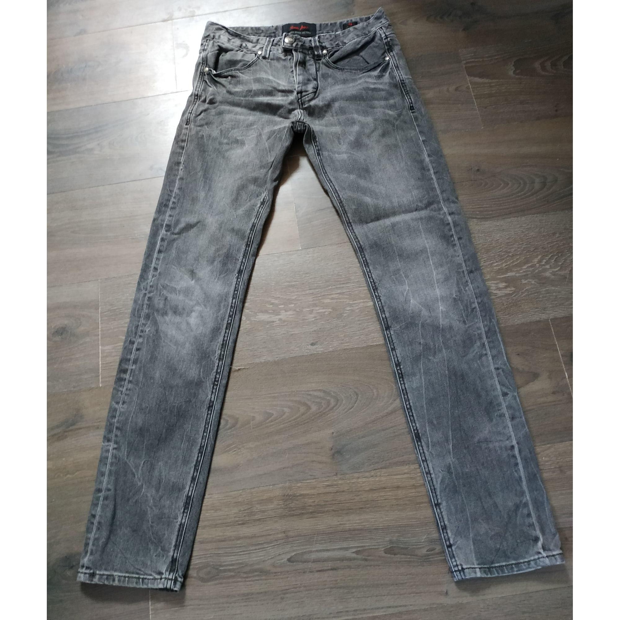 Jeans droit SIXTH JUNE Gris, anthracite