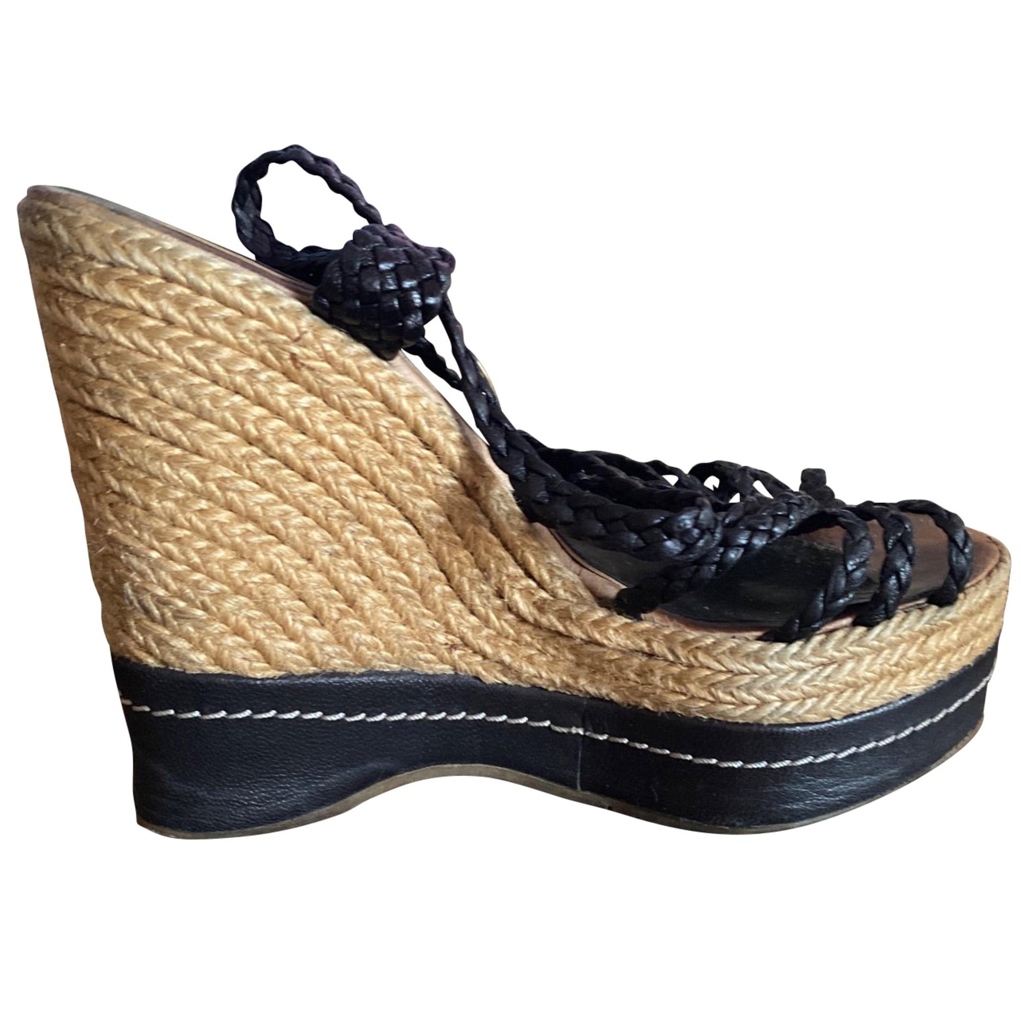 Sandales compensées STUART WEITZMAN Noir