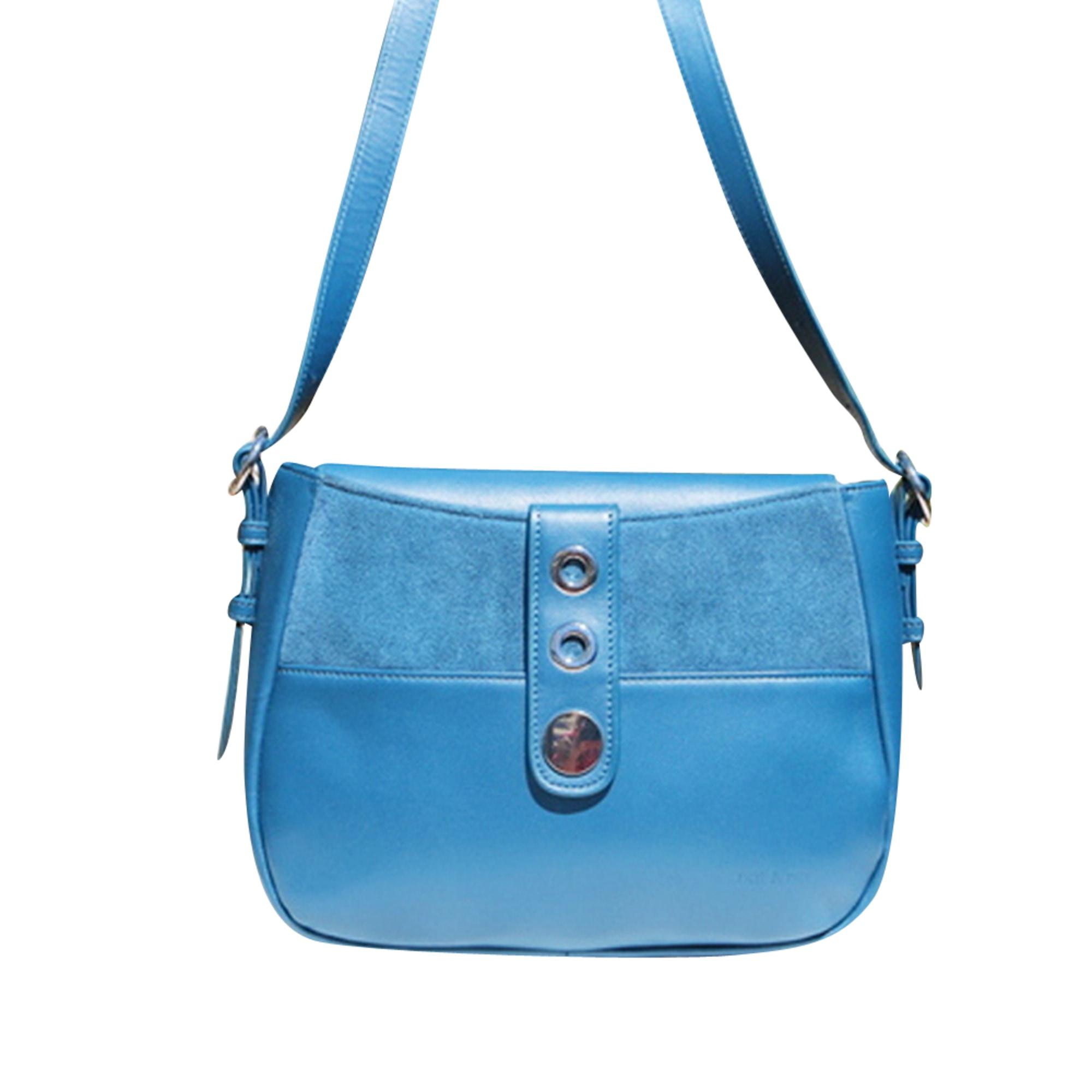 Leather Handbag NAT & NIN Blue, navy, turquoise