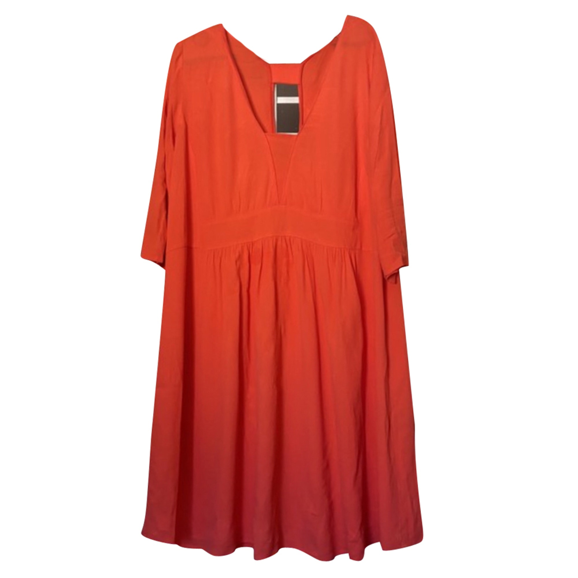 Robe mi-longue BA&SH Orange