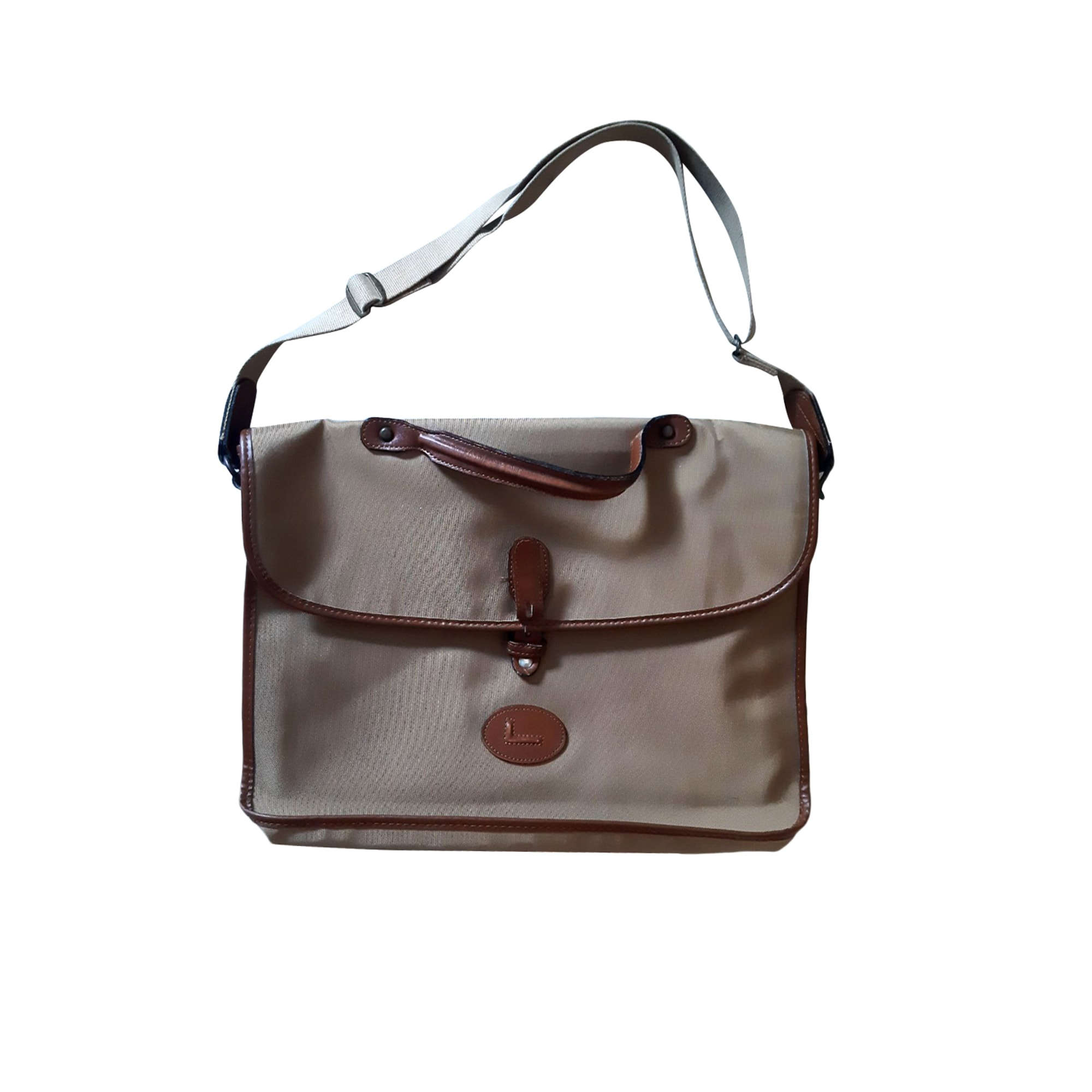 Porte documents, serviette LANCEL Beige, camel