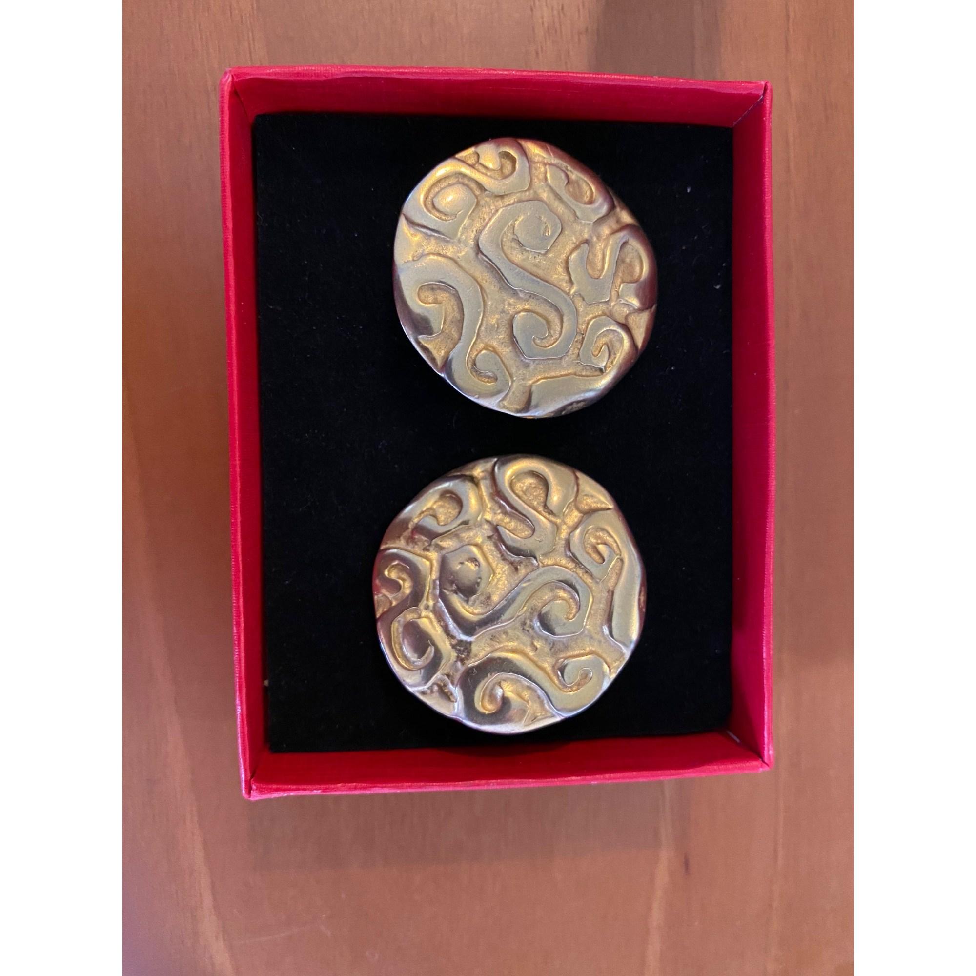 Boucles d'oreille EDOUARD RAMBAUD métal doré