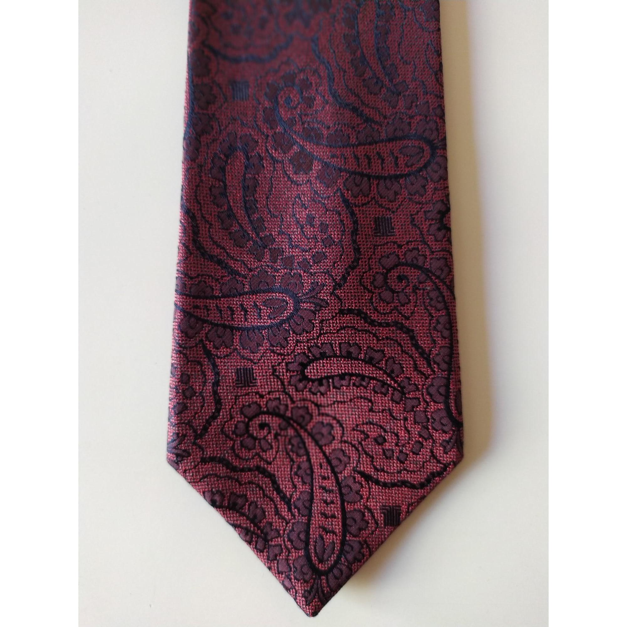 Cravate LANVIN Rouge, bordeaux