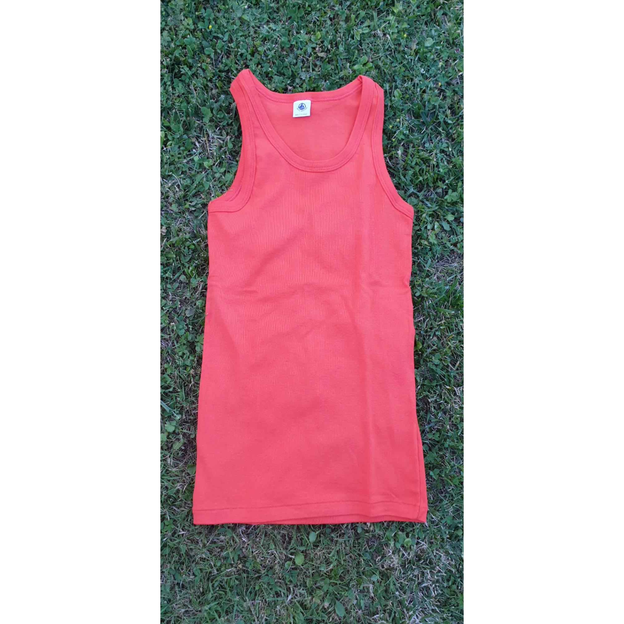 Tee-shirt PETIT BATEAU Rouge, bordeaux