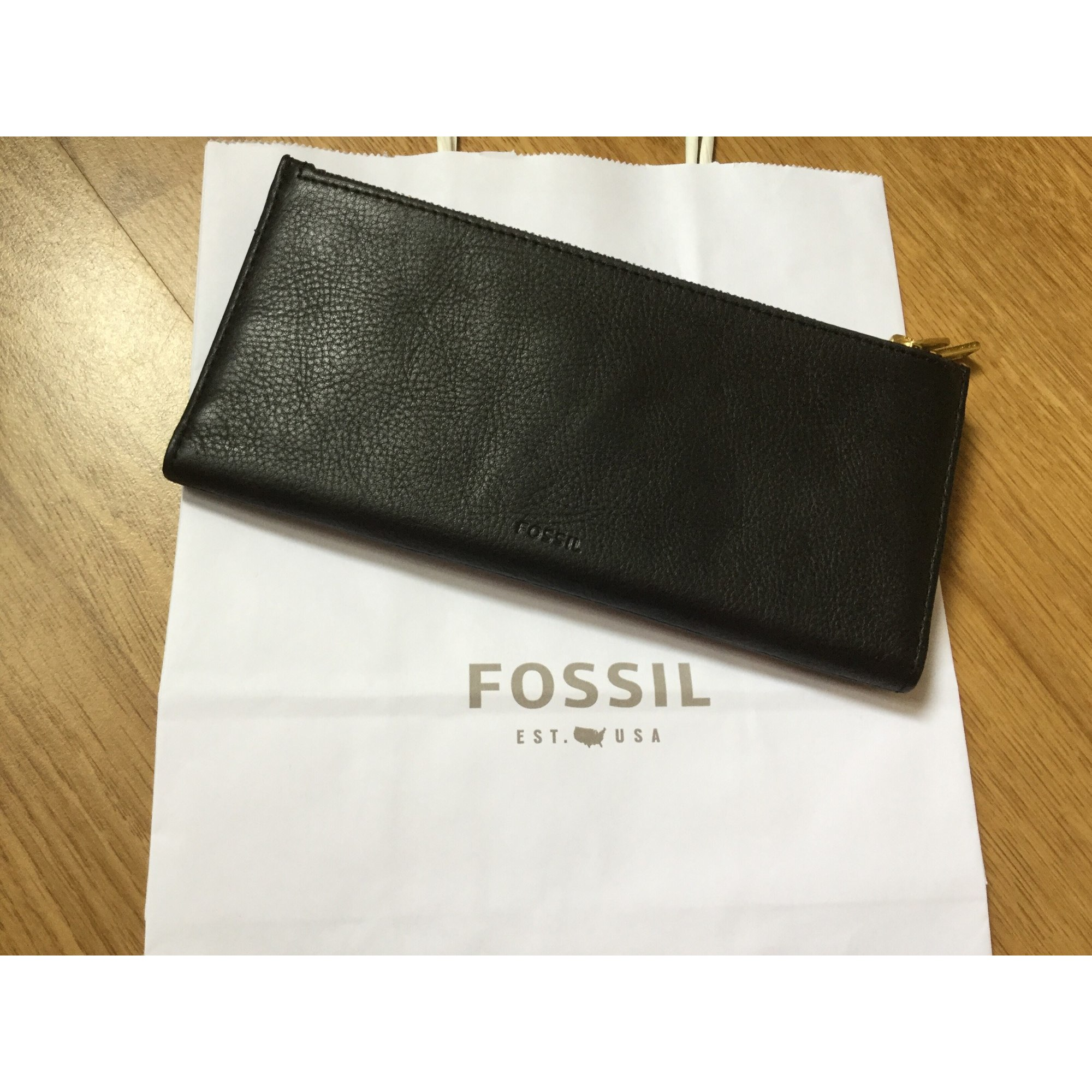 Portefeuille FOSSIL Noir
