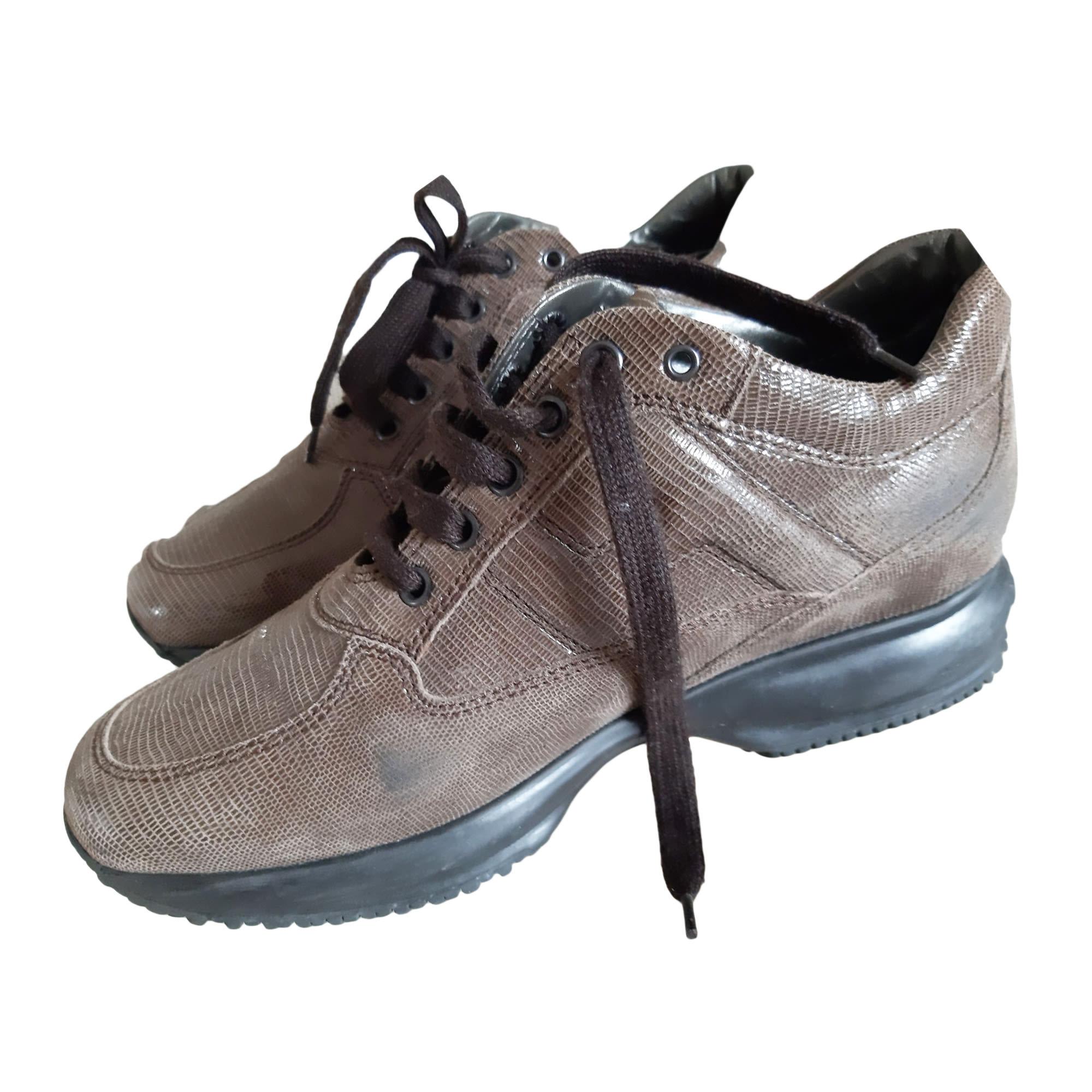Chaussures à lacets  HOGAN Doré, bronze, cuivre
