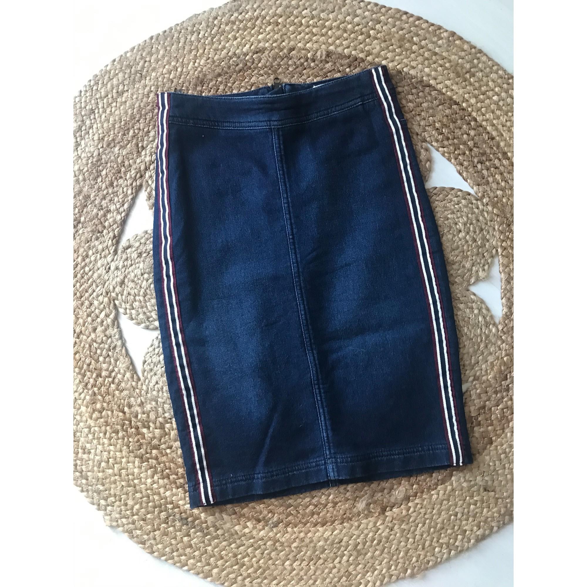 Jupe en jean H&M Bleu, bleu marine, bleu turquoise