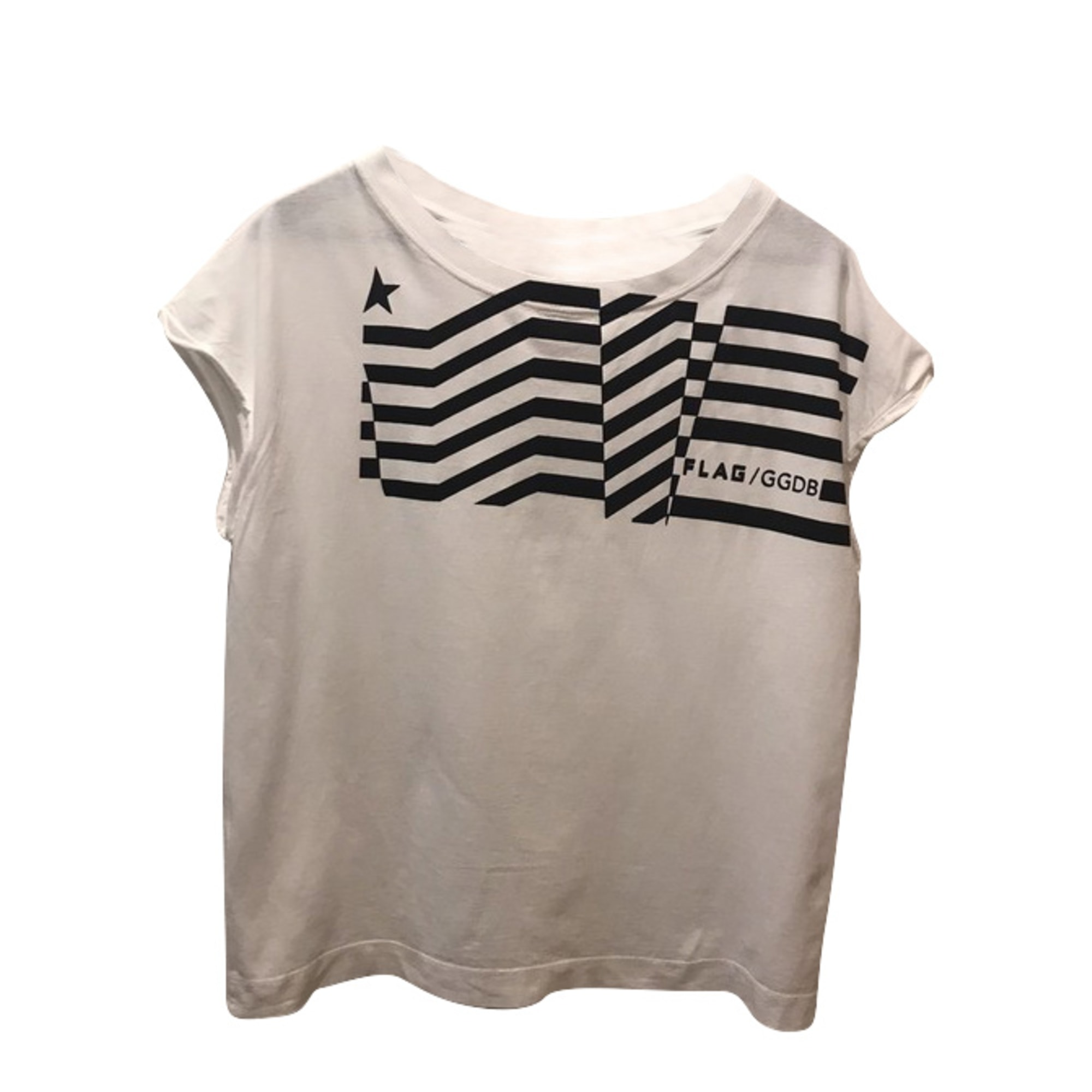 Tee-shirt GOLDEN GOOSE Blanc, blanc cassé, écru
