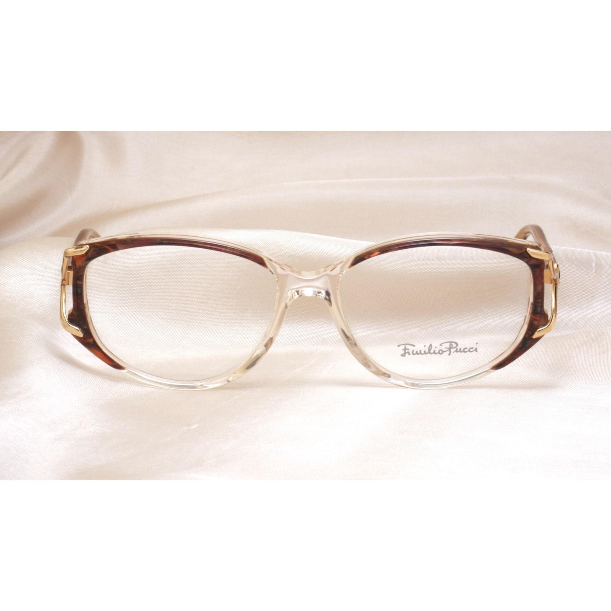 Monture de lunettes EMILIO PUCCI scuro e trasparente