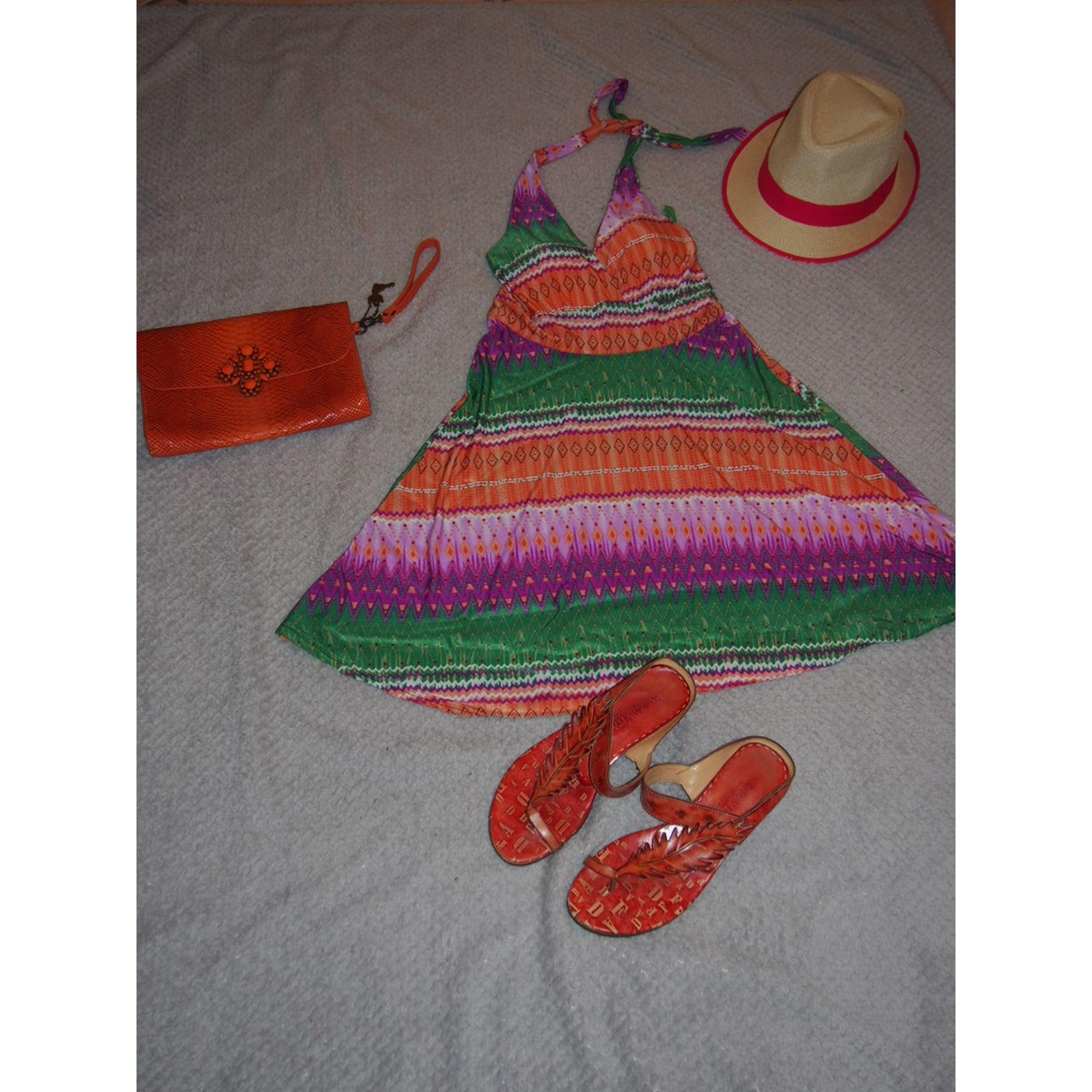 Robe dos nu MARQUE INCONNUE Orange