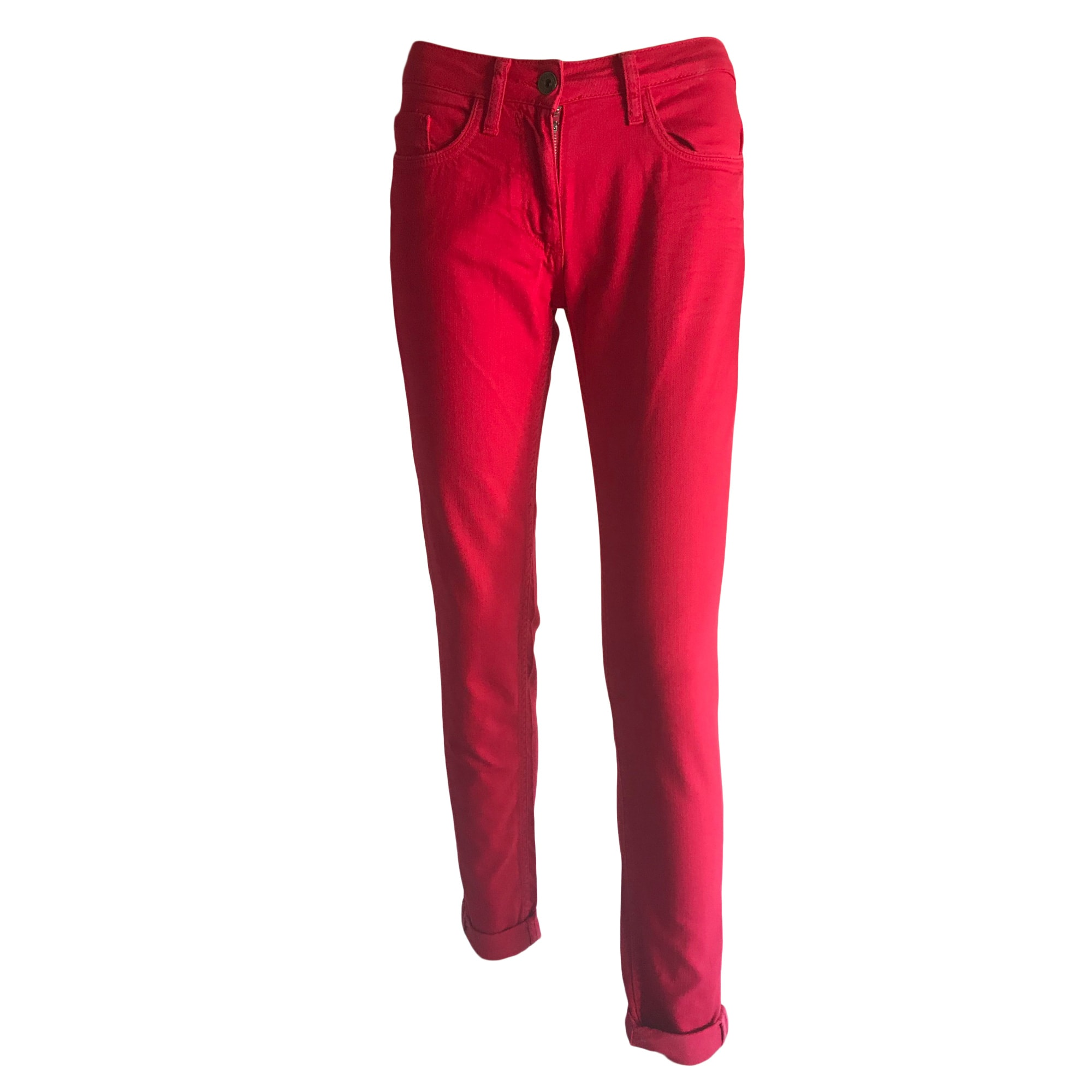 Jeans slim SANDRO Rouge, bordeaux