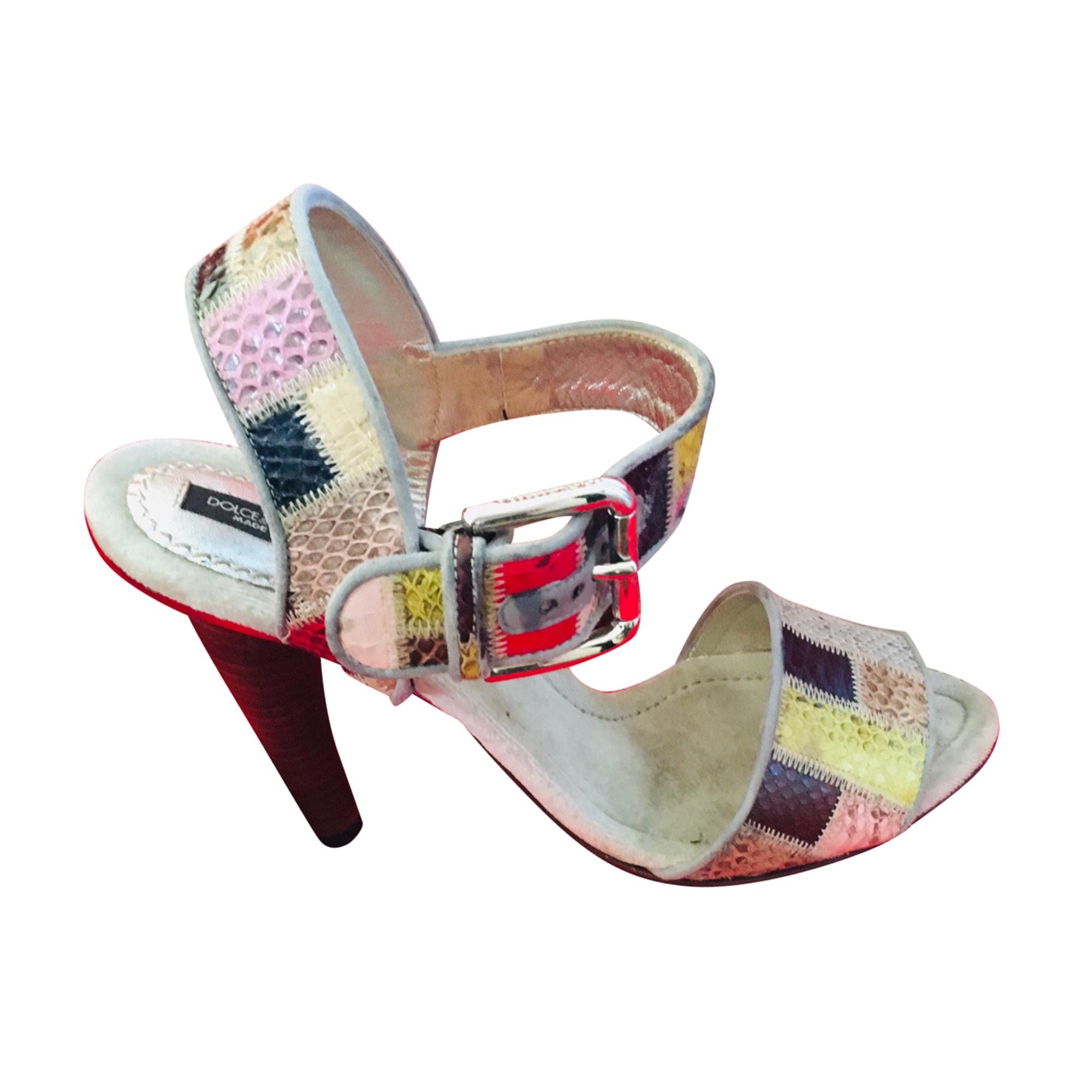 Sandales à talons DOLCE & GABBANA Multicouleur
