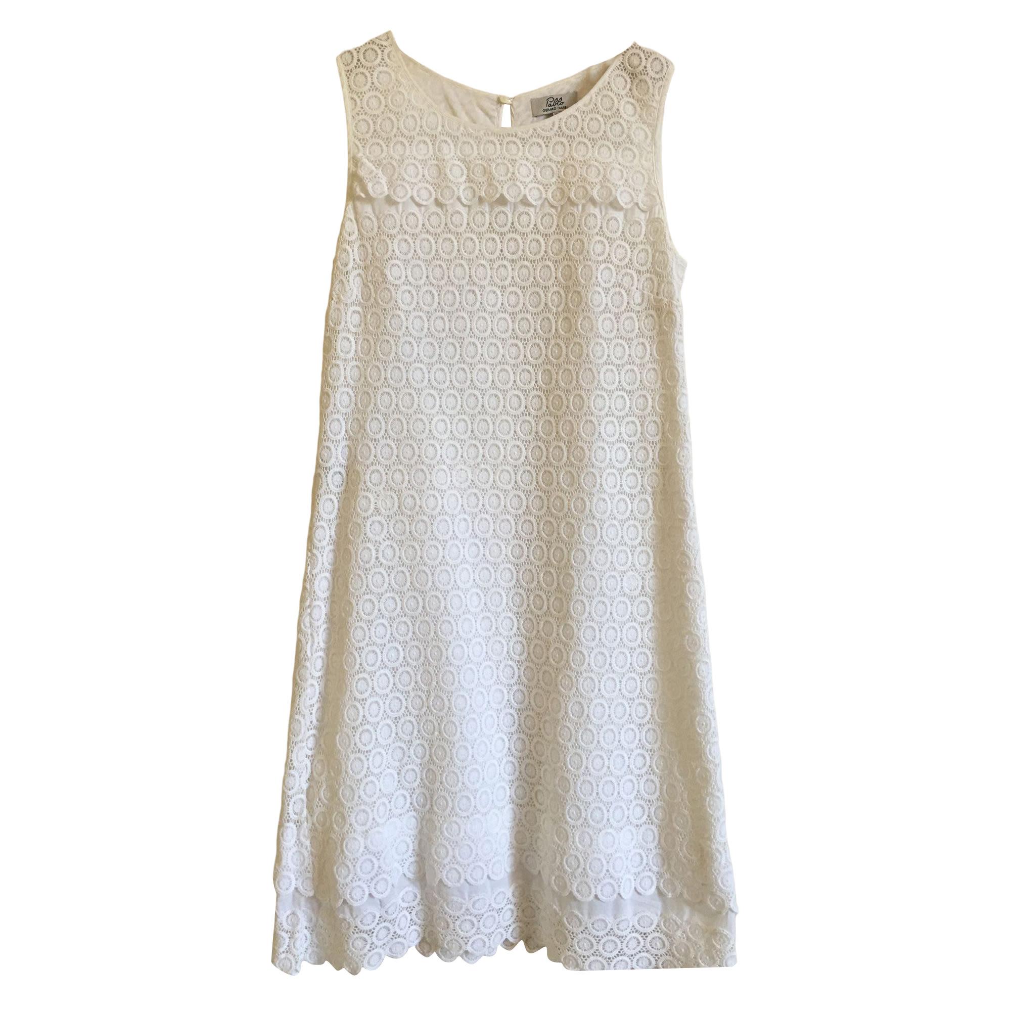 Robe courte PABLO PAR GÉRARD DAREL Blanc, blanc cassé, écru