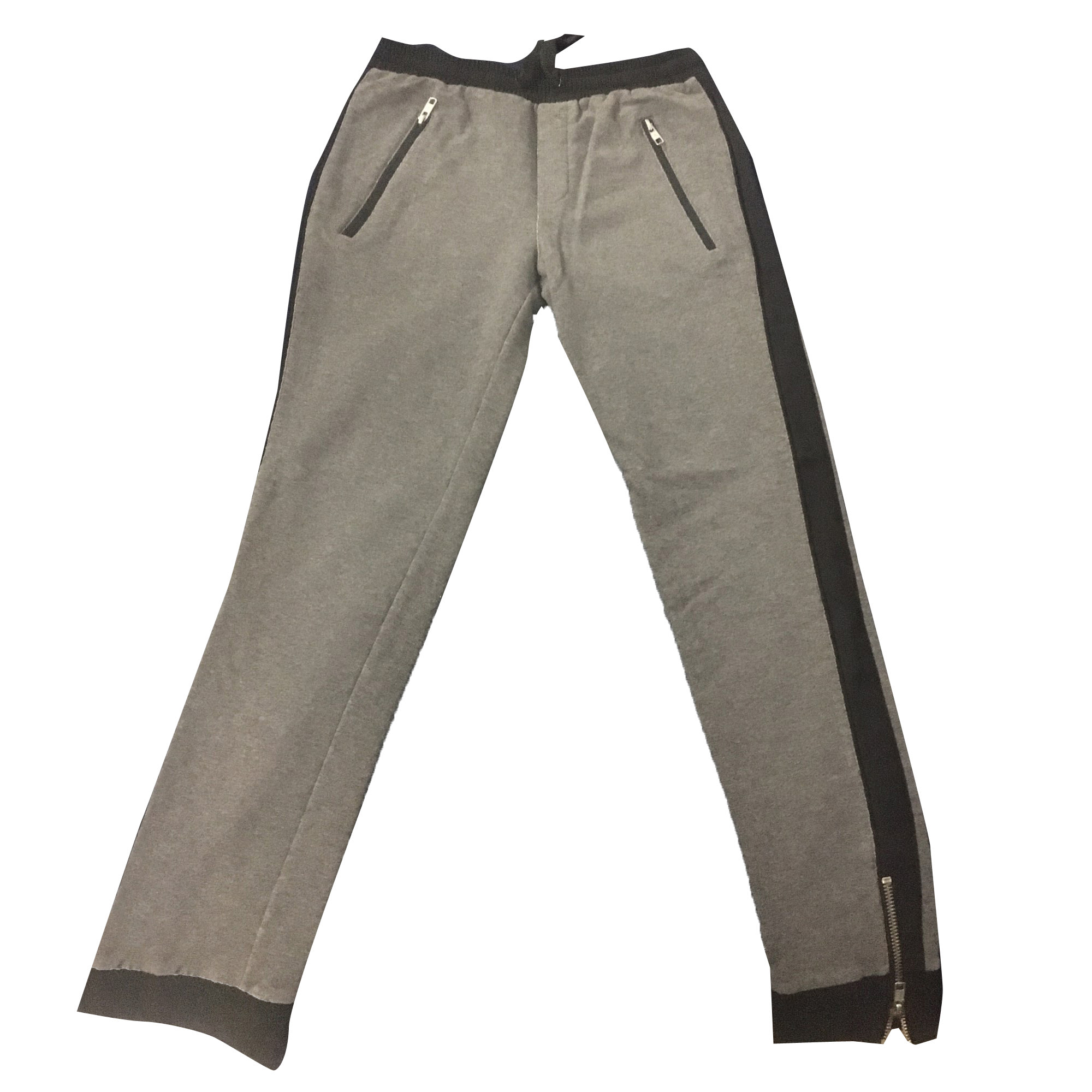 Pantalon slim, cigarette THE KOOPLES Gris, anthracite