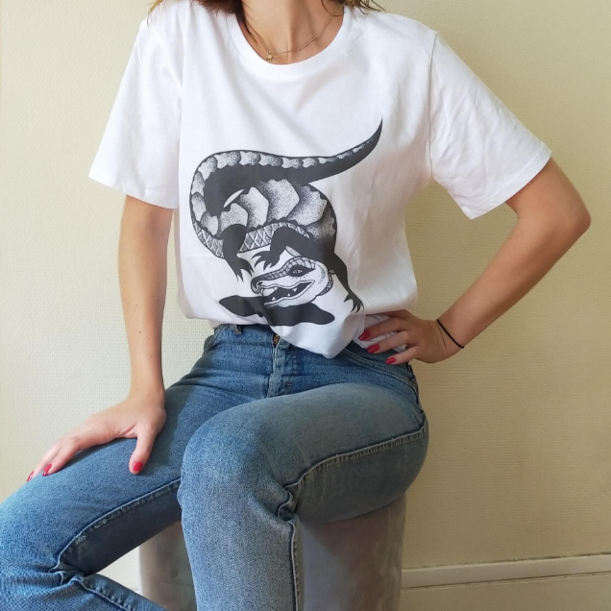 Tee-shirt ŒIL D'ARTISTE Blanc, blanc cassé, écru