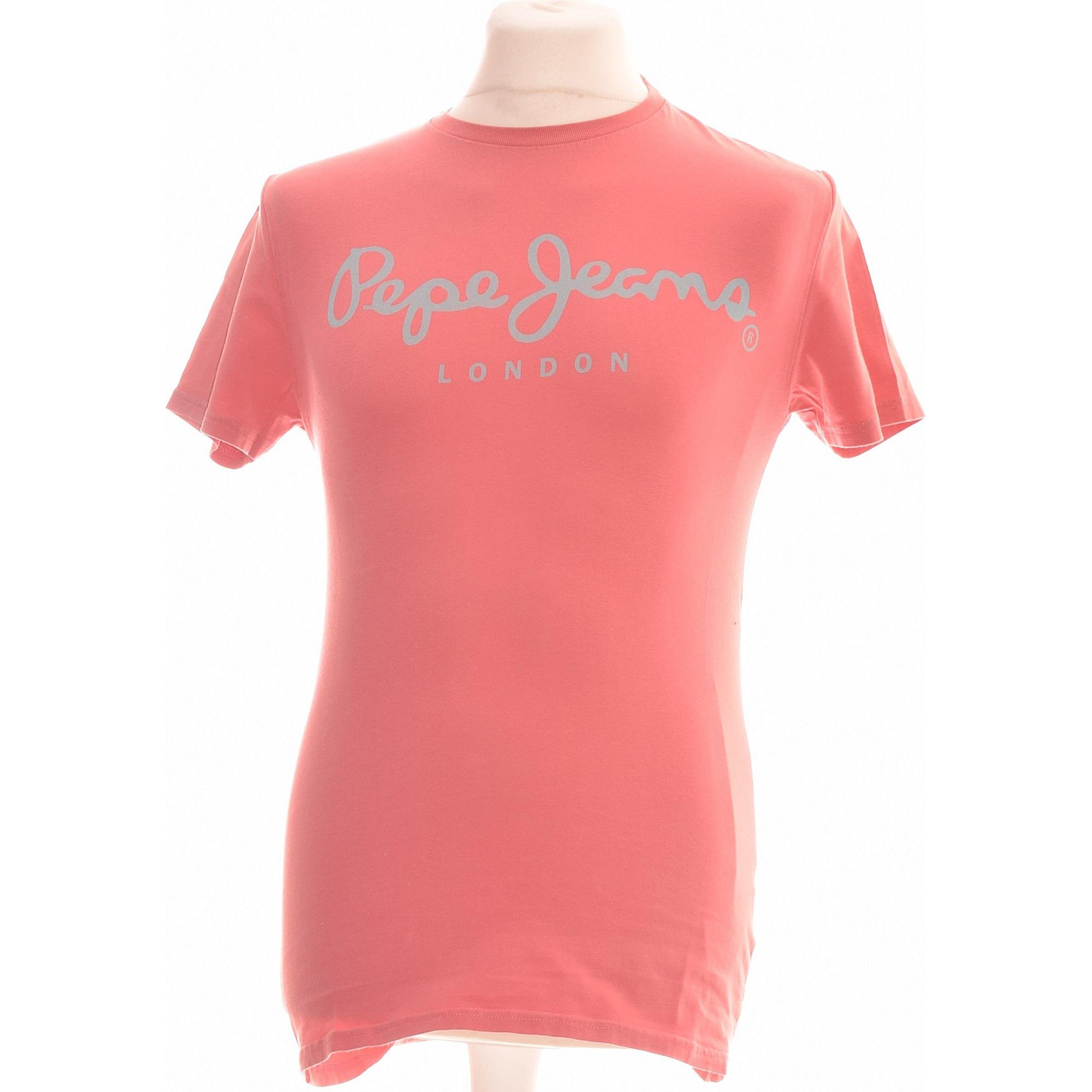 Tee-shirt PEPE JEANS Rose, fuschia, vieux rose