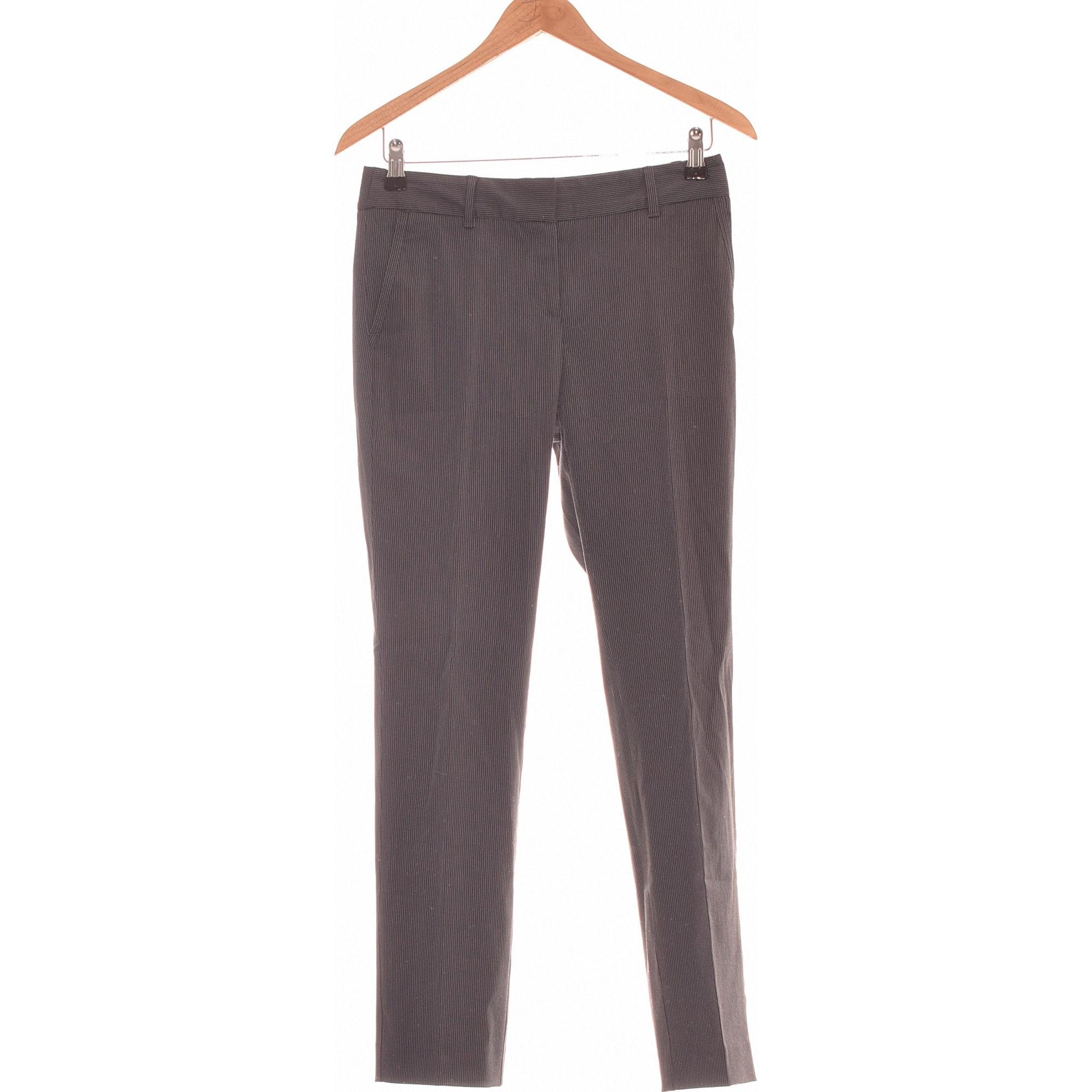 Pantalon slim, cigarette MANGO Noir