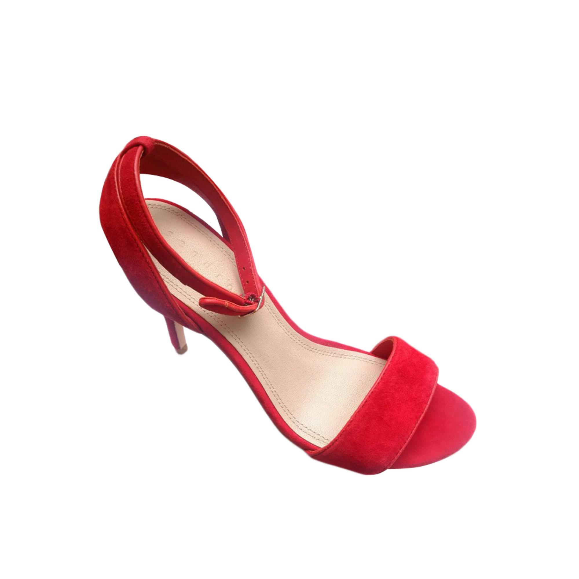 Sandales à talons SANDRO Rouge, bordeaux