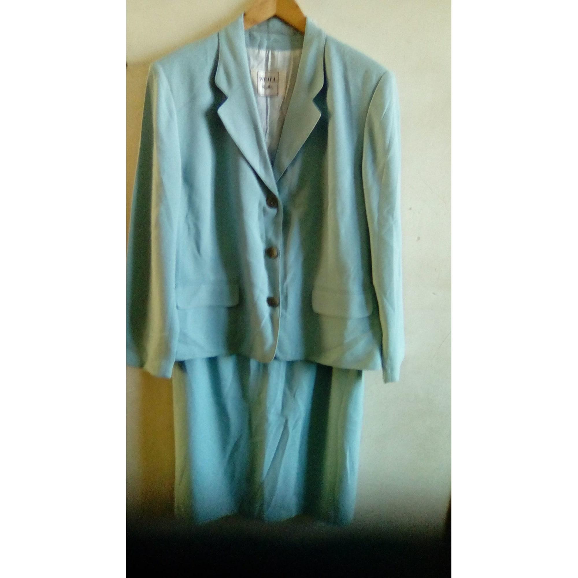 Tailleur jupe WEILL Bleu, bleu marine, bleu turquoise