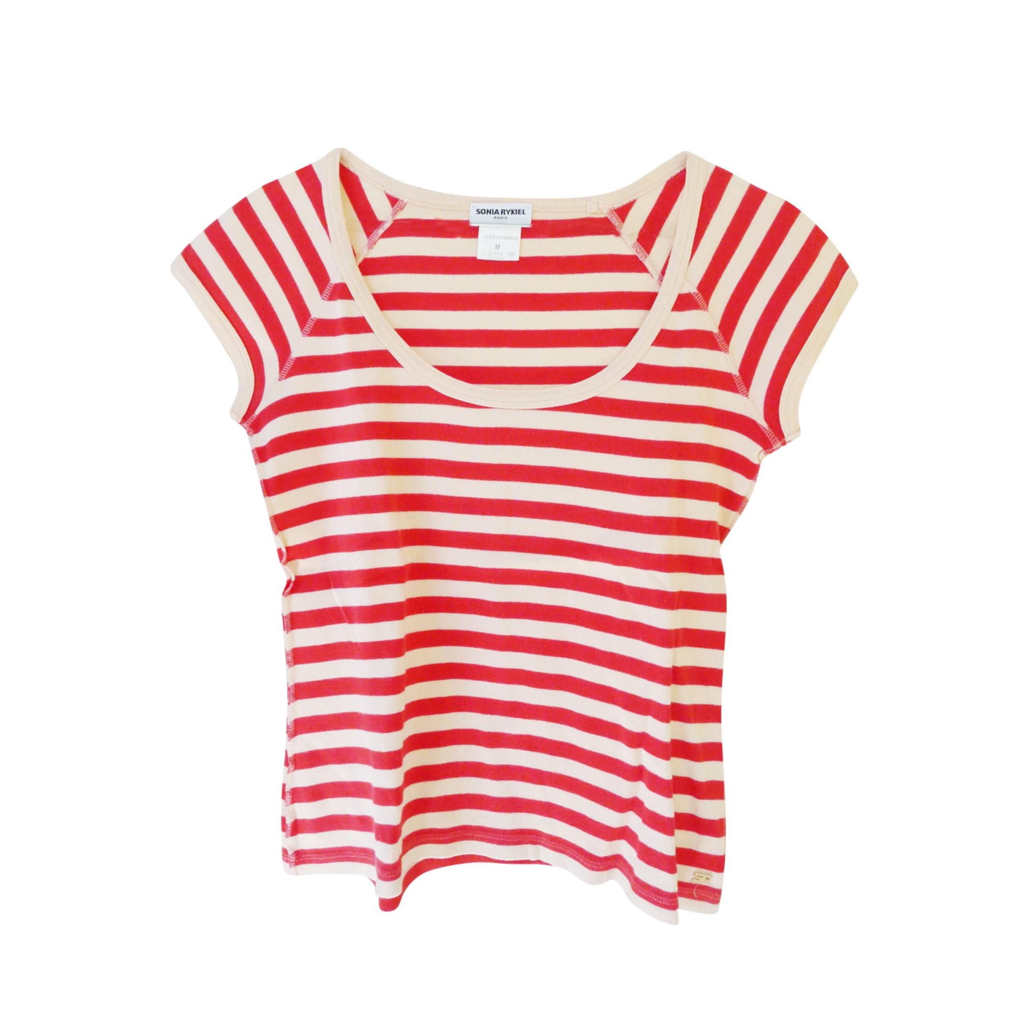 Top, tee-shirt SONIA RYKIEL Rouge, bordeaux