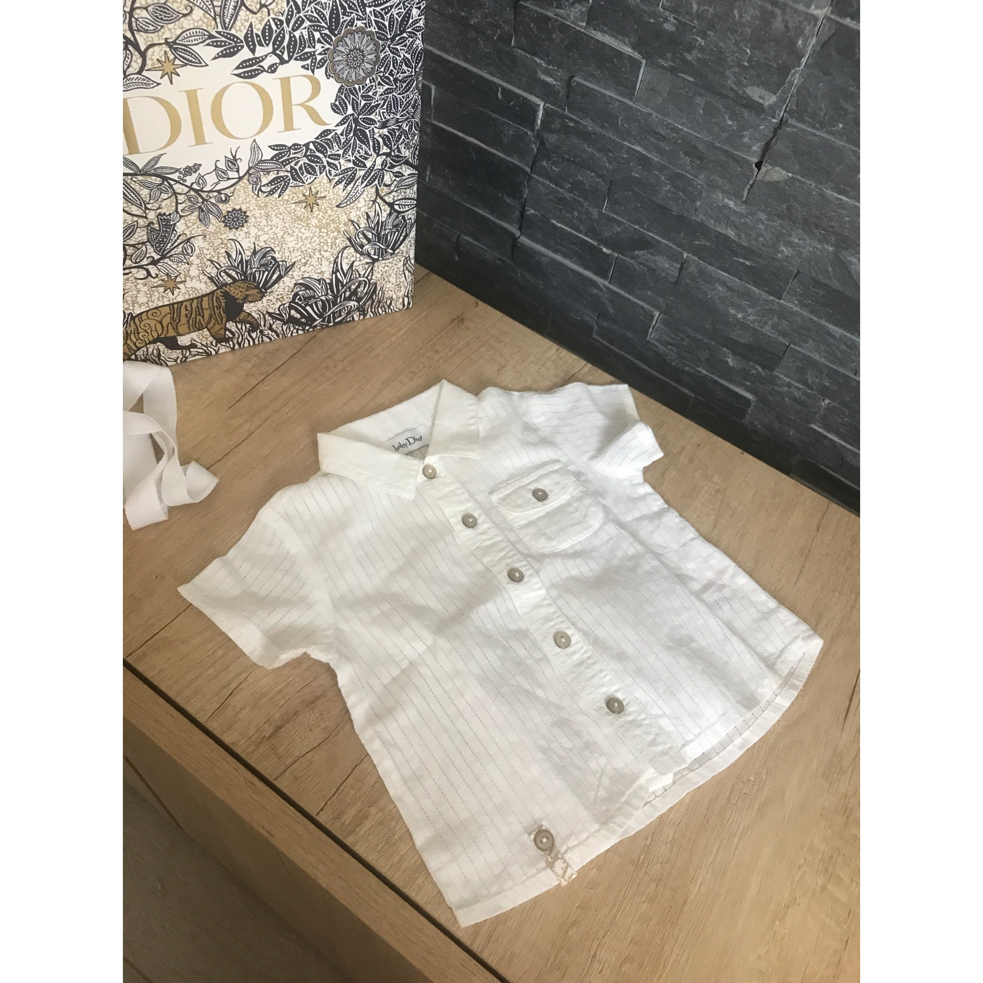 Chemise BABY DIOR Blanc, blanc cassé, écru