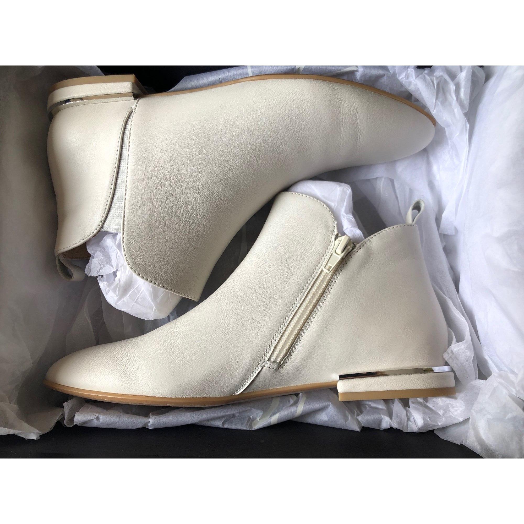 Bottines & low boots plates JB MARTIN Blanc, blanc cassé, écru