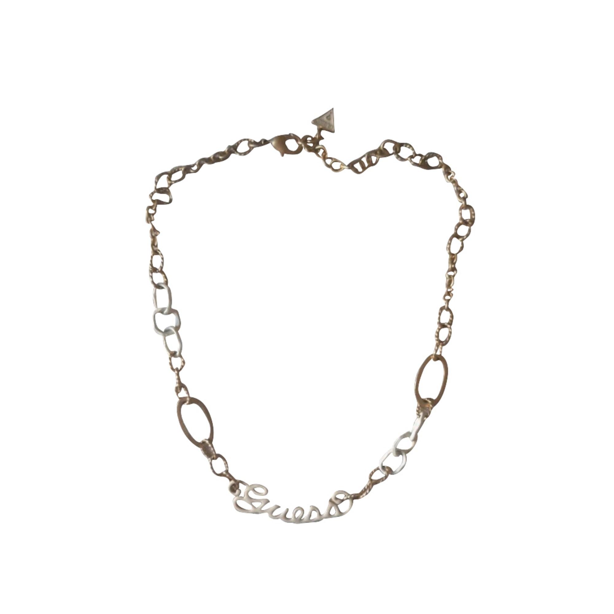 Parure bijoux GUESS blanc et couleur or