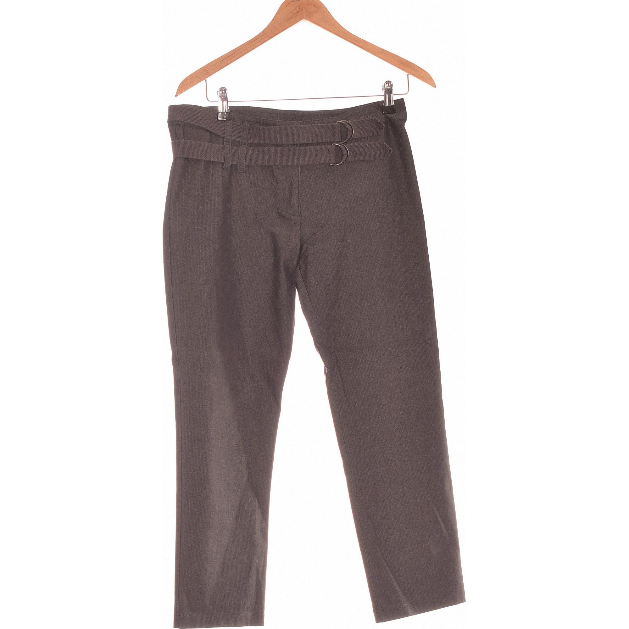 Pantalon droit COP-COPINE Gris, anthracite