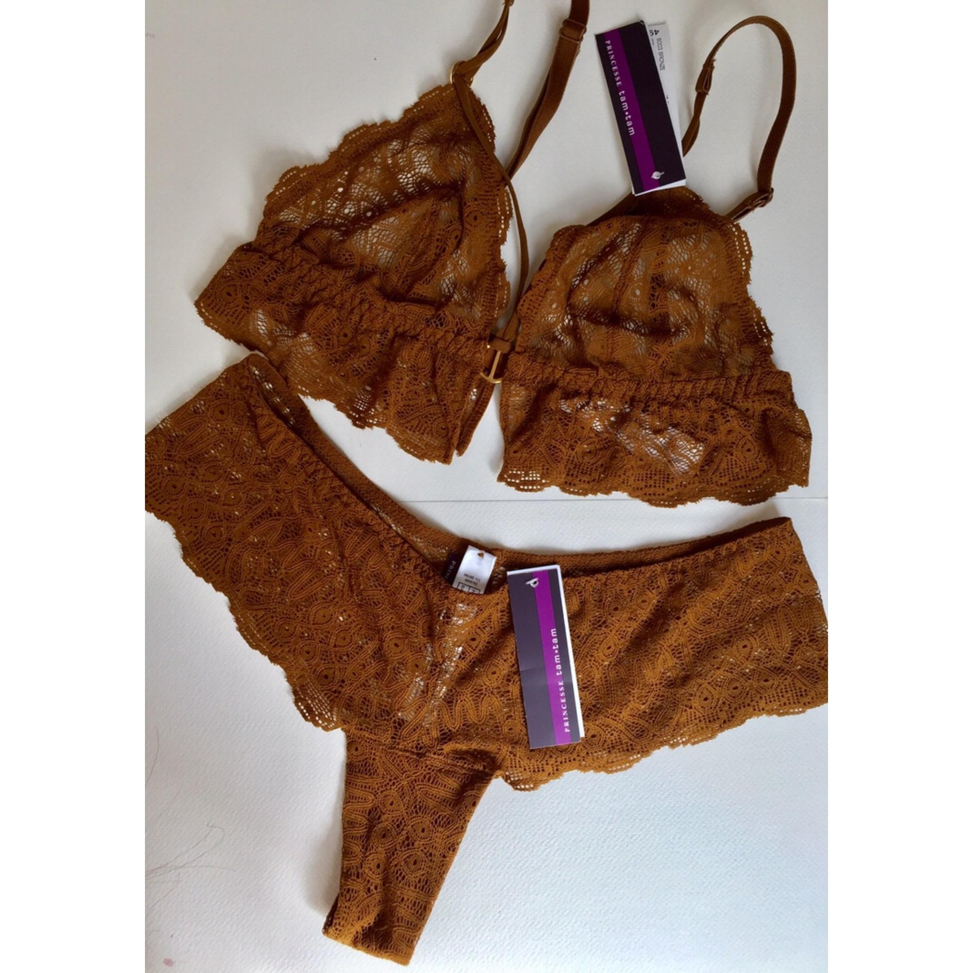 Ensemble, parure lingerie PRINCESSE TAM TAM Doré, bronze, cuivre