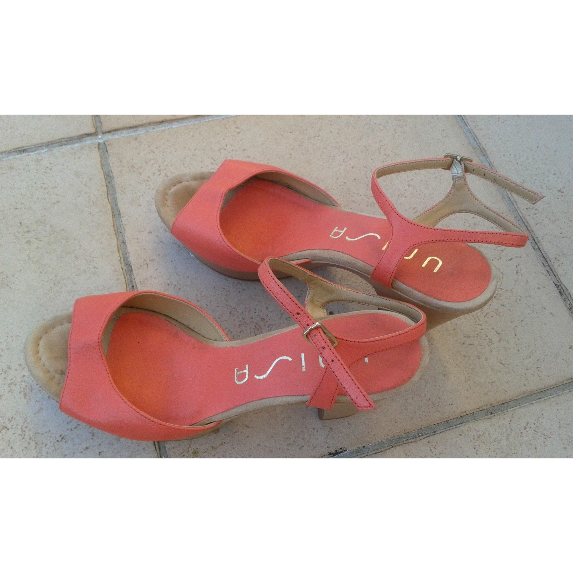 Sandales à talons UNISA Abricot