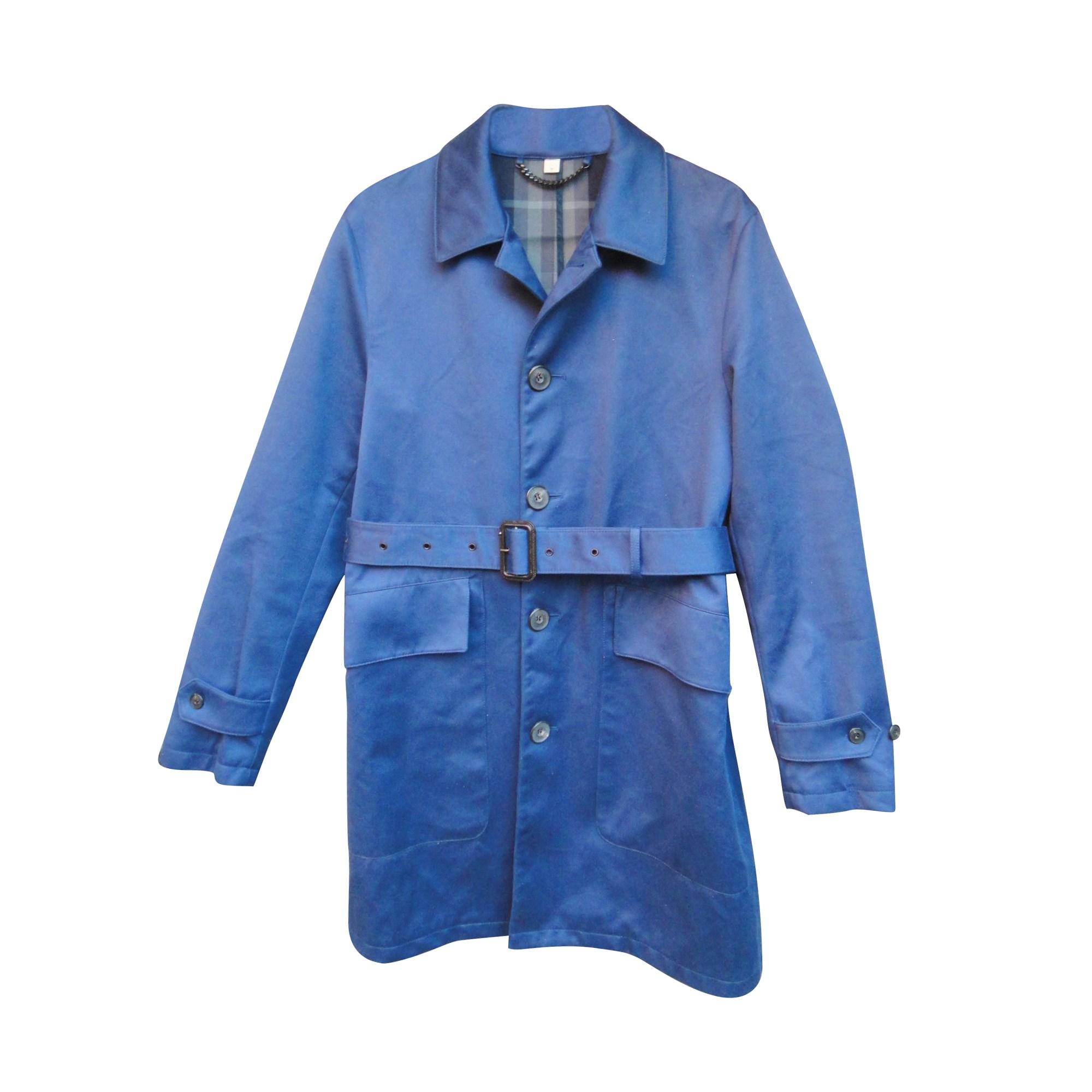 Imperméable, trench BURBERRY Bleu, bleu marine, bleu turquoise