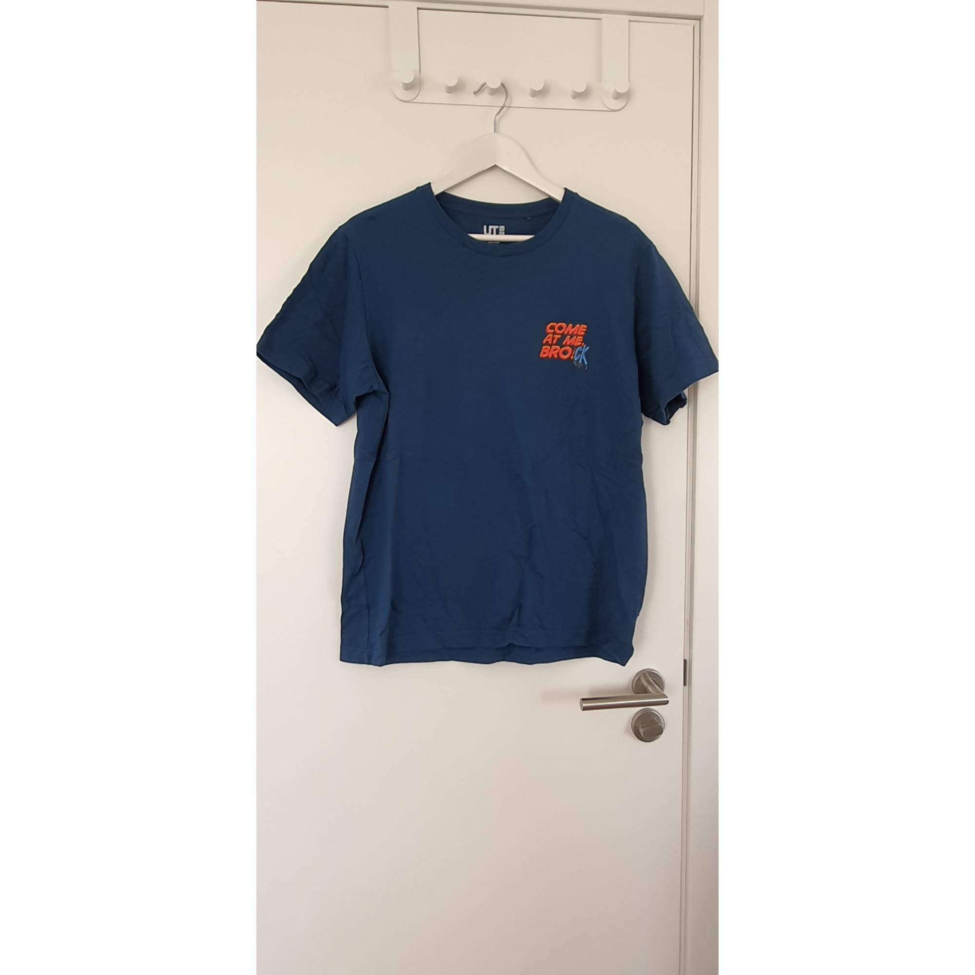 Tee-shirt UNIQLO Bleu, bleu marine, bleu turquoise