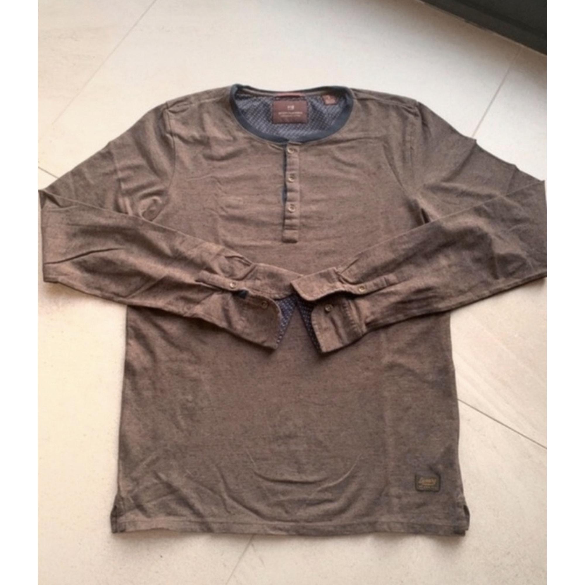 Tee-shirt SCOTCH & SODA Marron